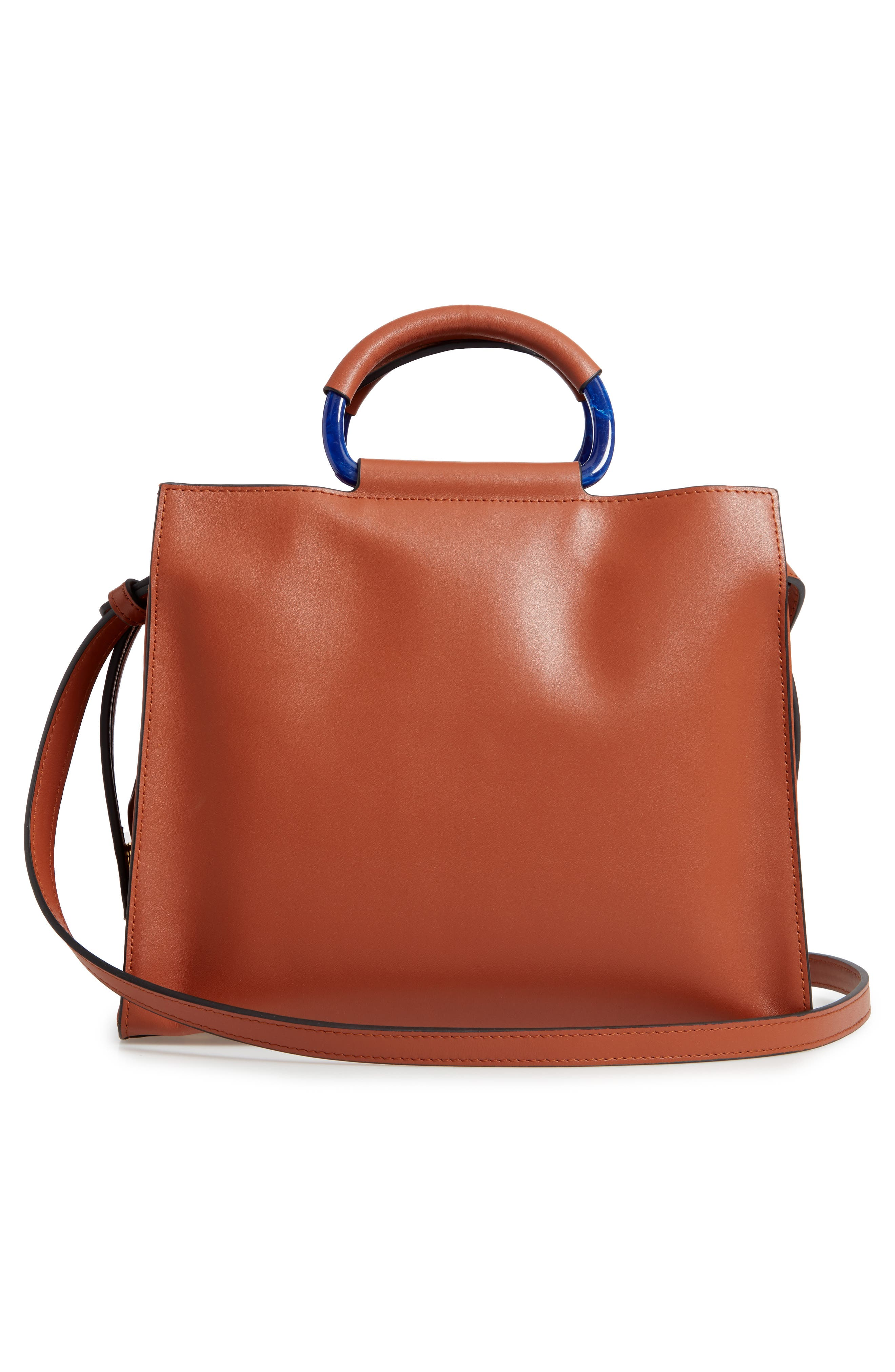 Harriet Leather Box Tote,                             Alternate thumbnail 3, color,