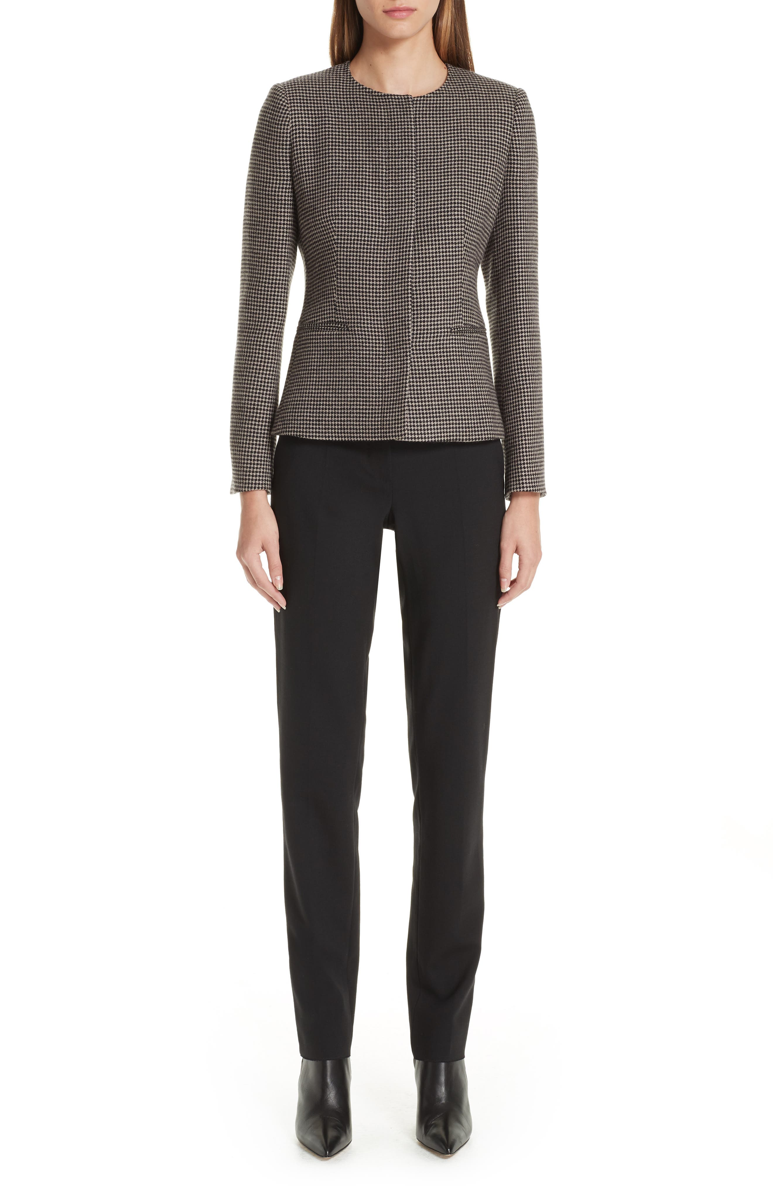 Spigola Wool & Cashmere Jacket,                             Alternate thumbnail 7, color,                             TURTLEDOVE