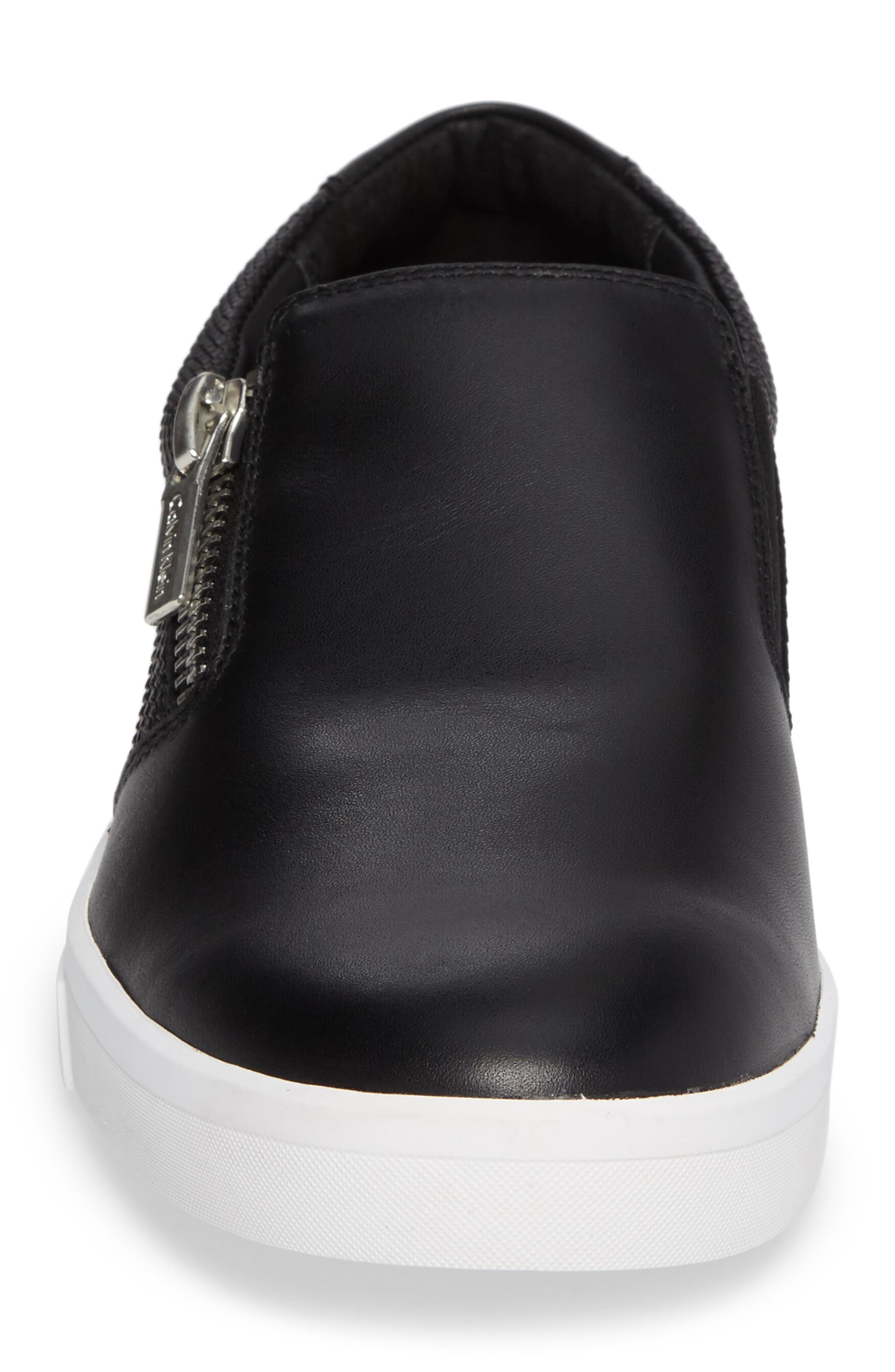 Ibiza Slip-On Zip Sneaker,                             Alternate thumbnail 4, color,                             001