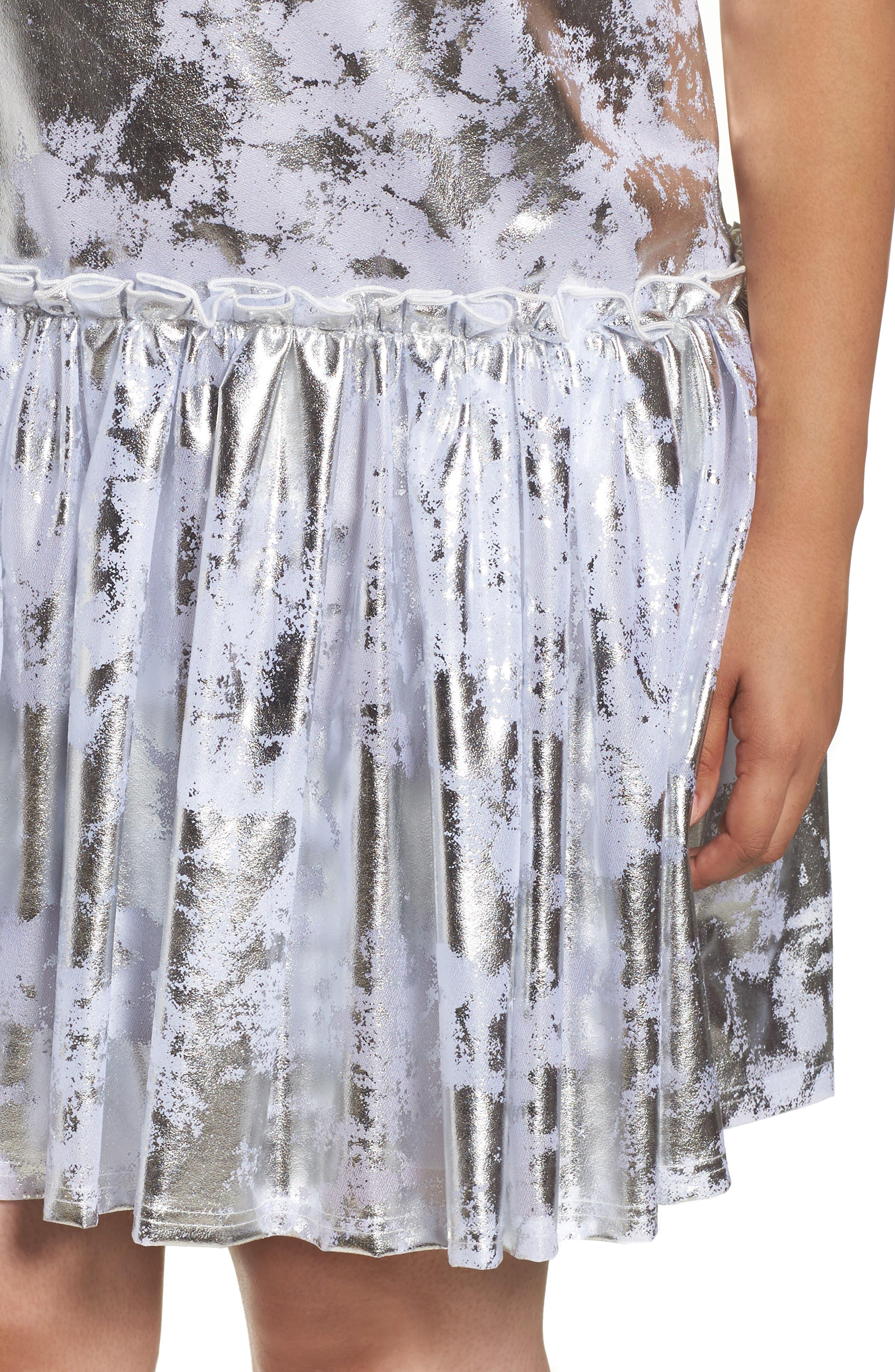 Metallic Swing Dress,                             Alternate thumbnail 4, color,                             040