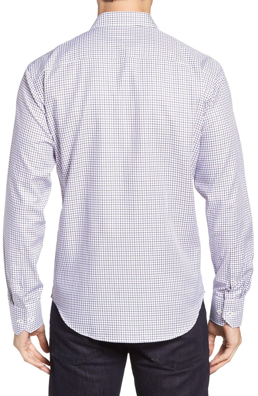 Shaped Fit Tattersall Sport Shirt,                             Alternate thumbnail 2, color,                             513