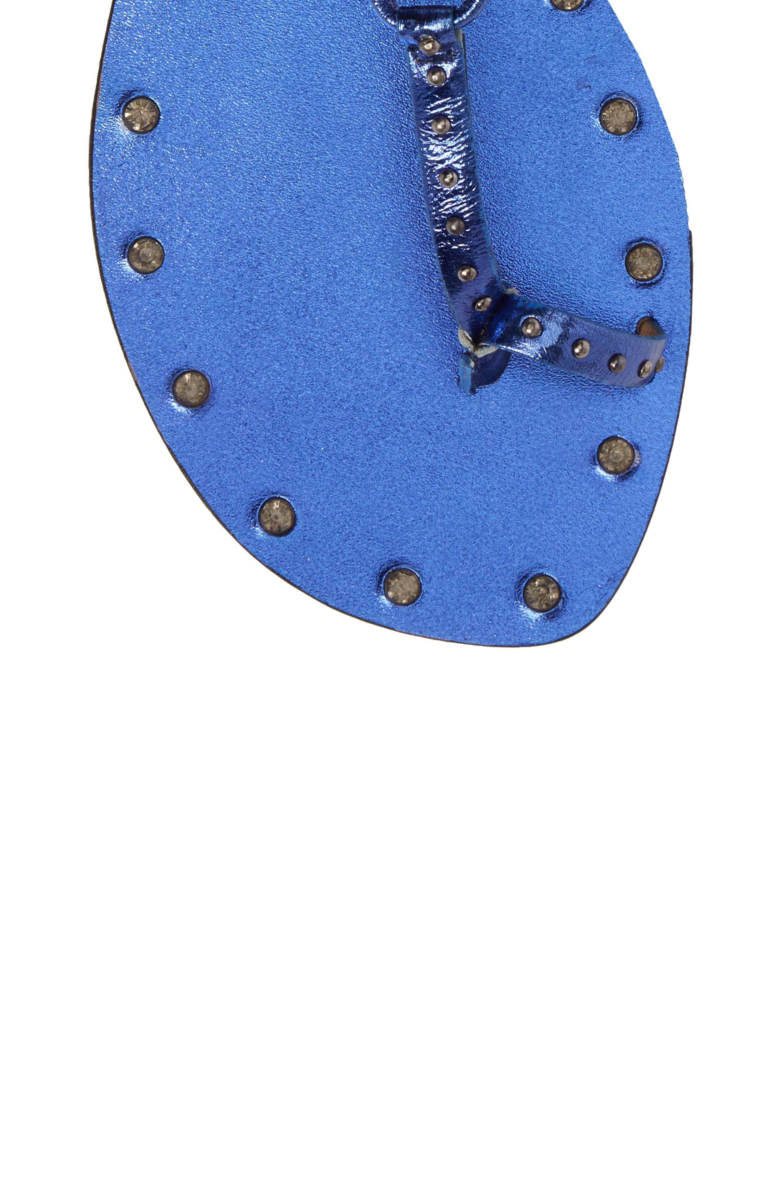 Fay Embellished Wraparound Sandal,                             Alternate thumbnail 14, color,