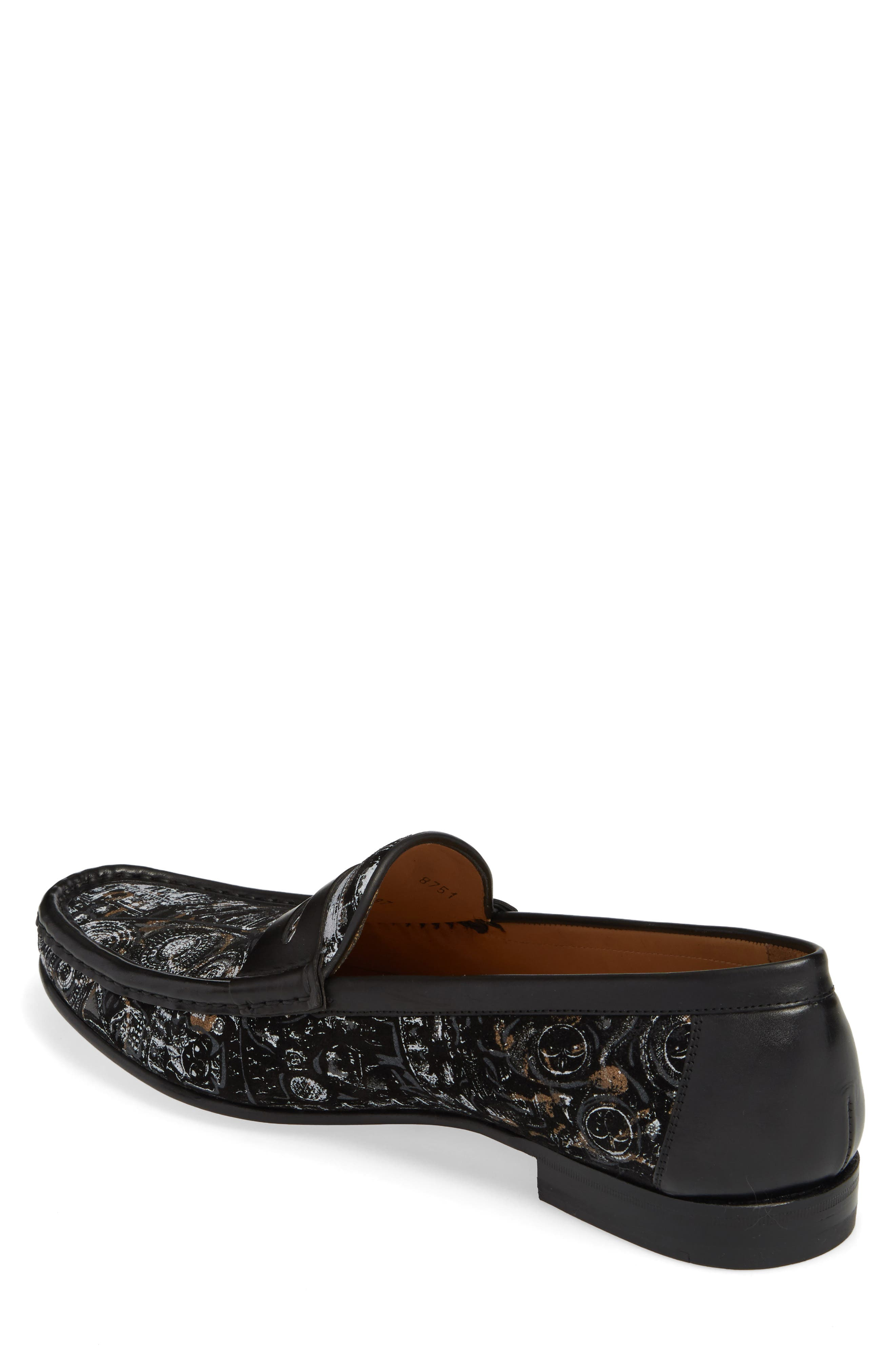 Laries II Penny Loafer,                             Alternate thumbnail 2, color,                             BLACK SUEDE/ LEATHER