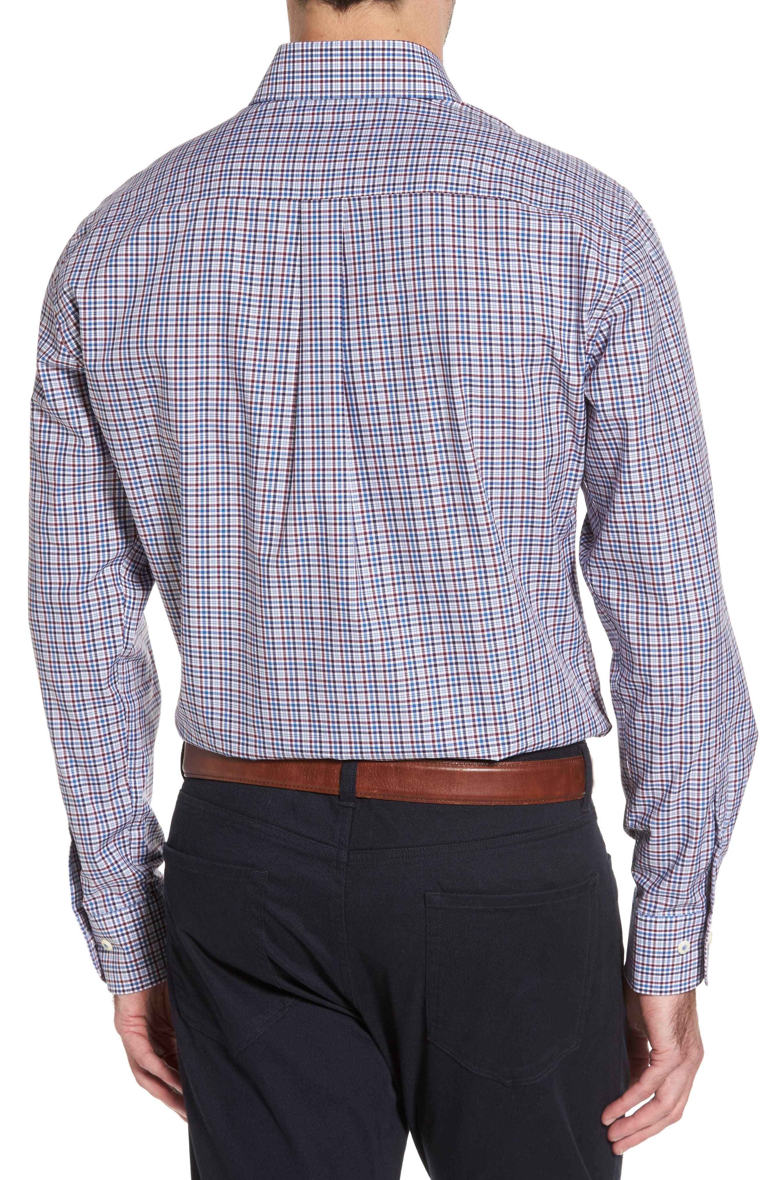 Crown Finish Vine Check Regular Fit Sport Shirt,                             Alternate thumbnail 2, color,