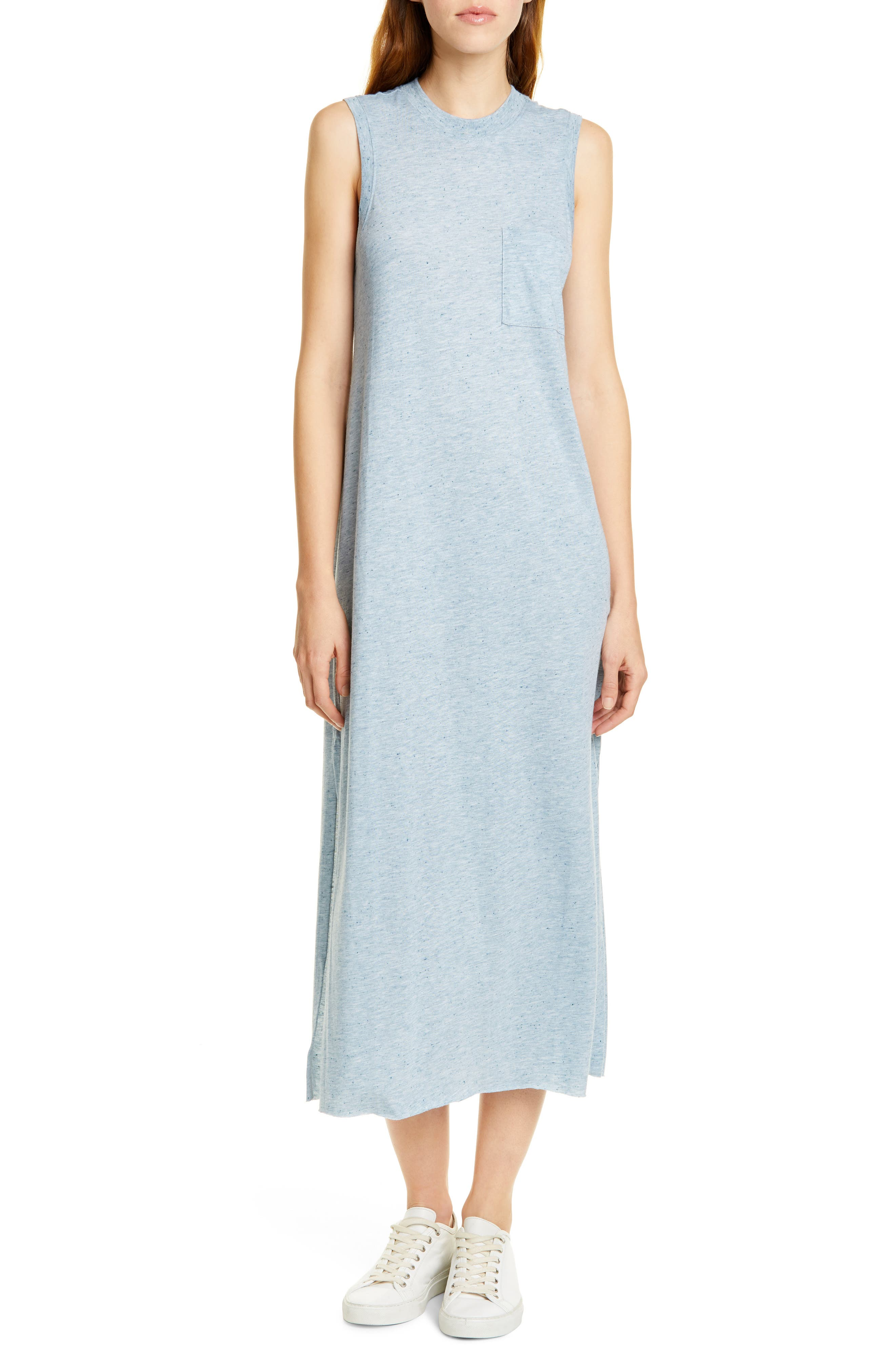 Atm Anthony Thomas Melillo Donegal Pocket Midi Dress, Blue