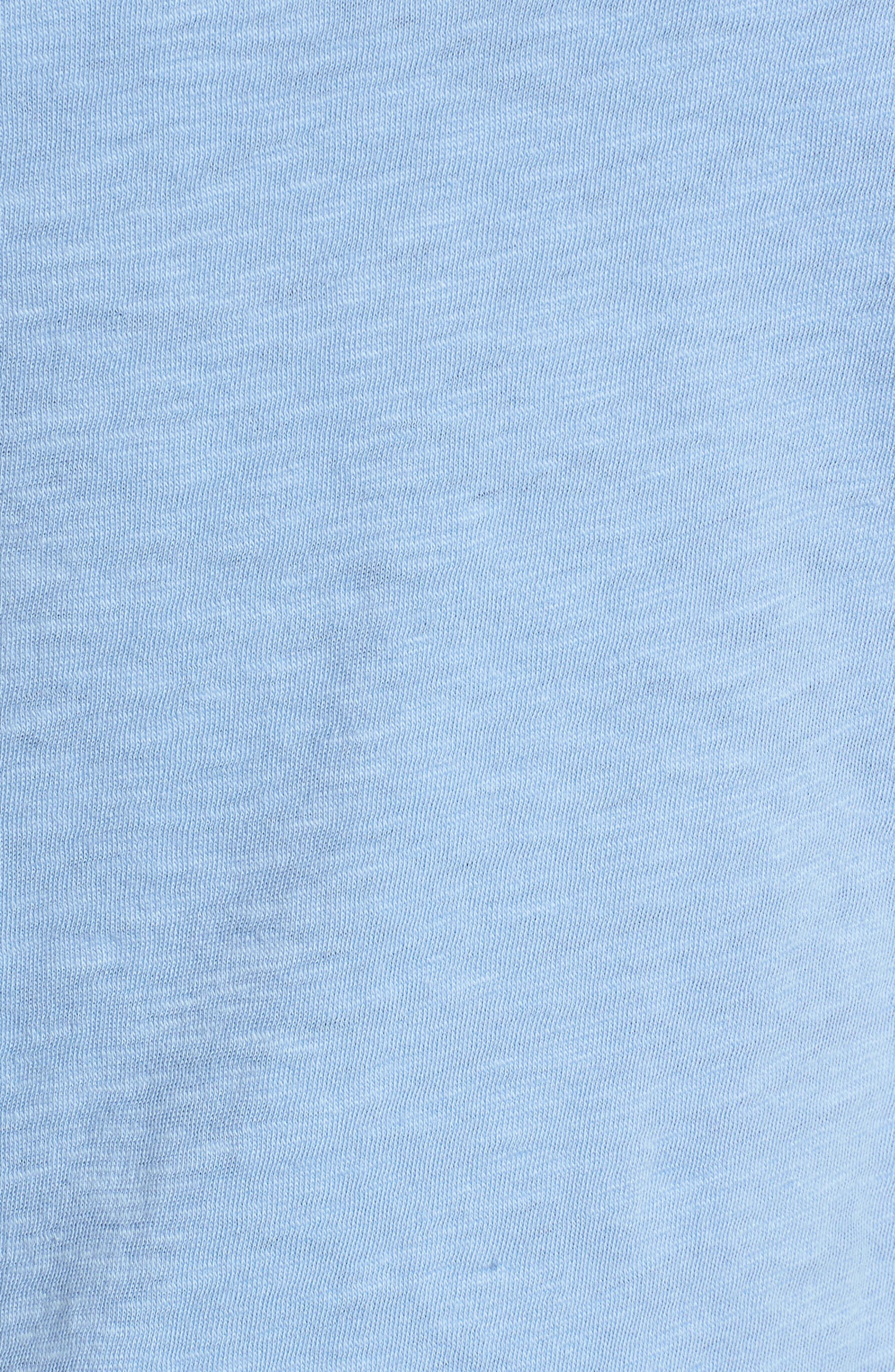 Pleat Sleeve Cotton Tee,                             Alternate thumbnail 24, color,