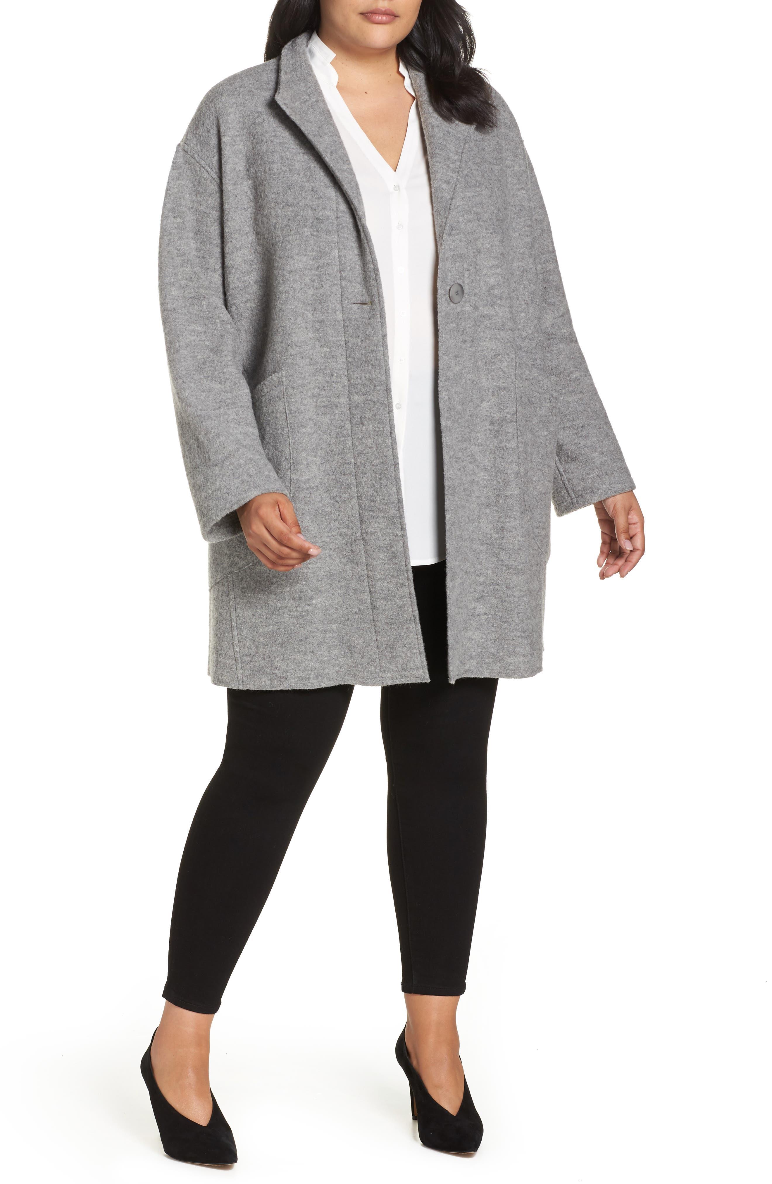 FLEURETTE Teddy Wool Coat, Main, color, 020