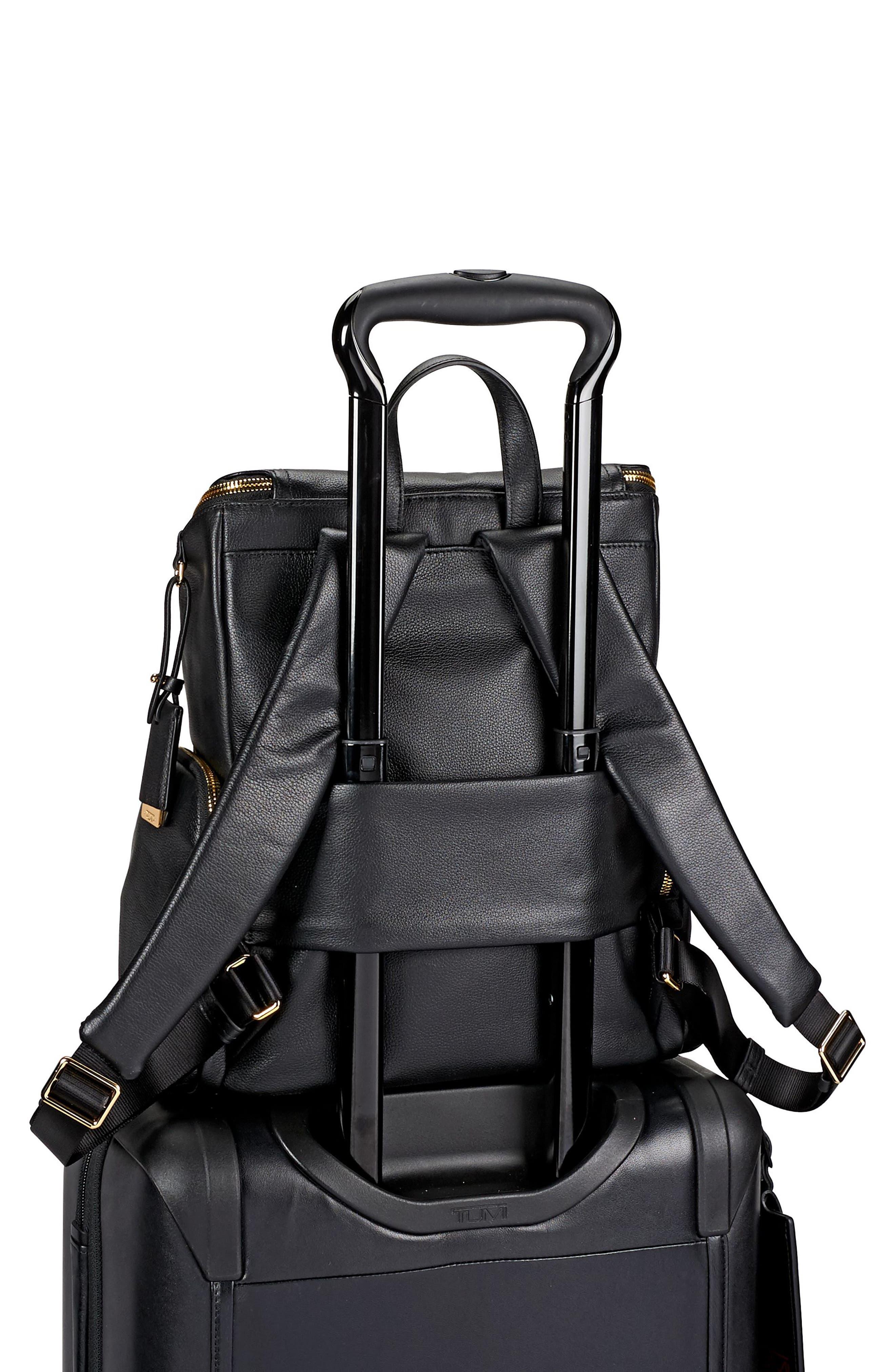 Voyageur Lexa Leather Backpack,                             Alternate thumbnail 6, color,                             001