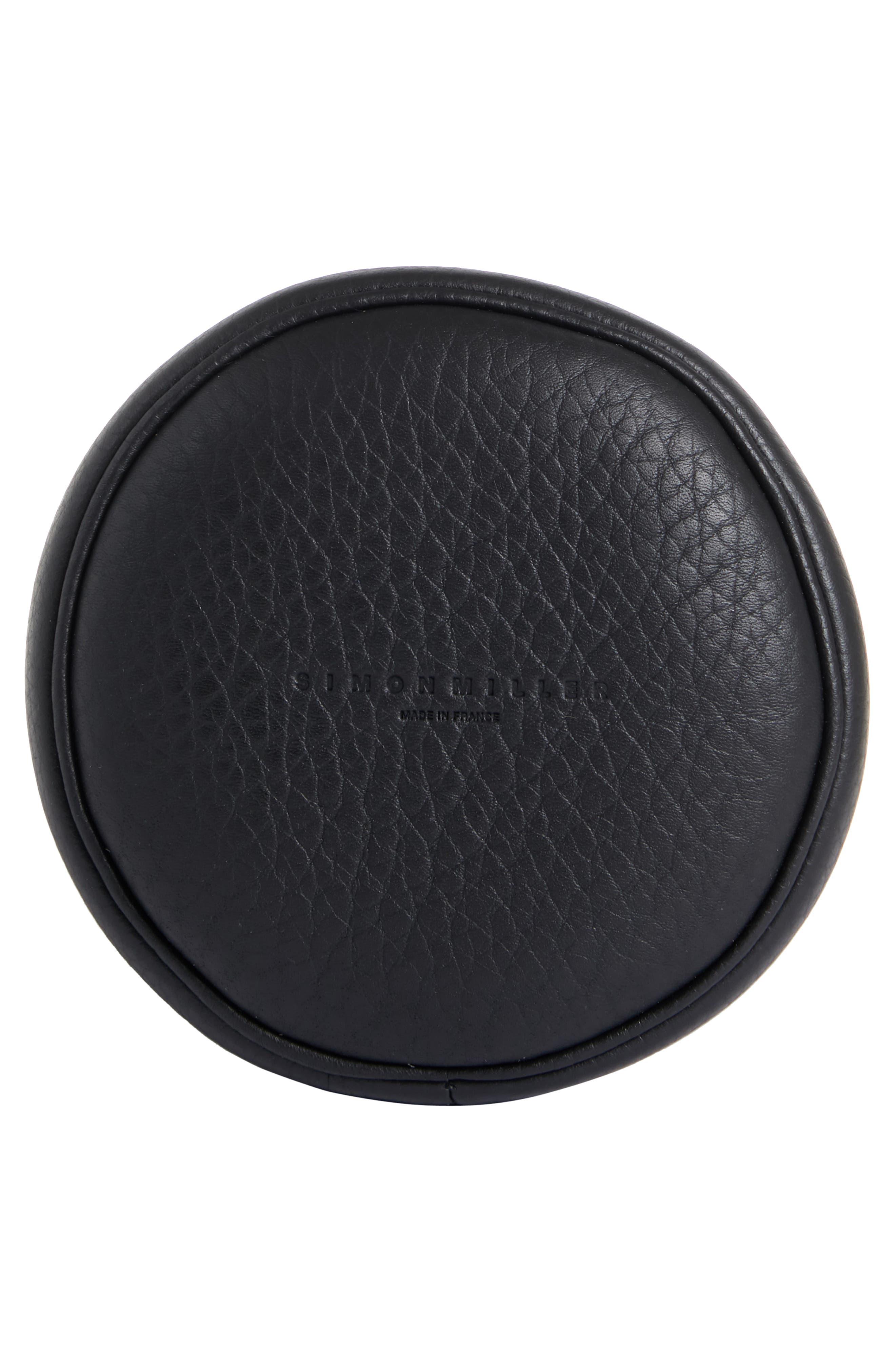 Bonsai 15 Calfskin Leather Bucket Bag,                             Alternate thumbnail 6, color,                             ALL BLACK
