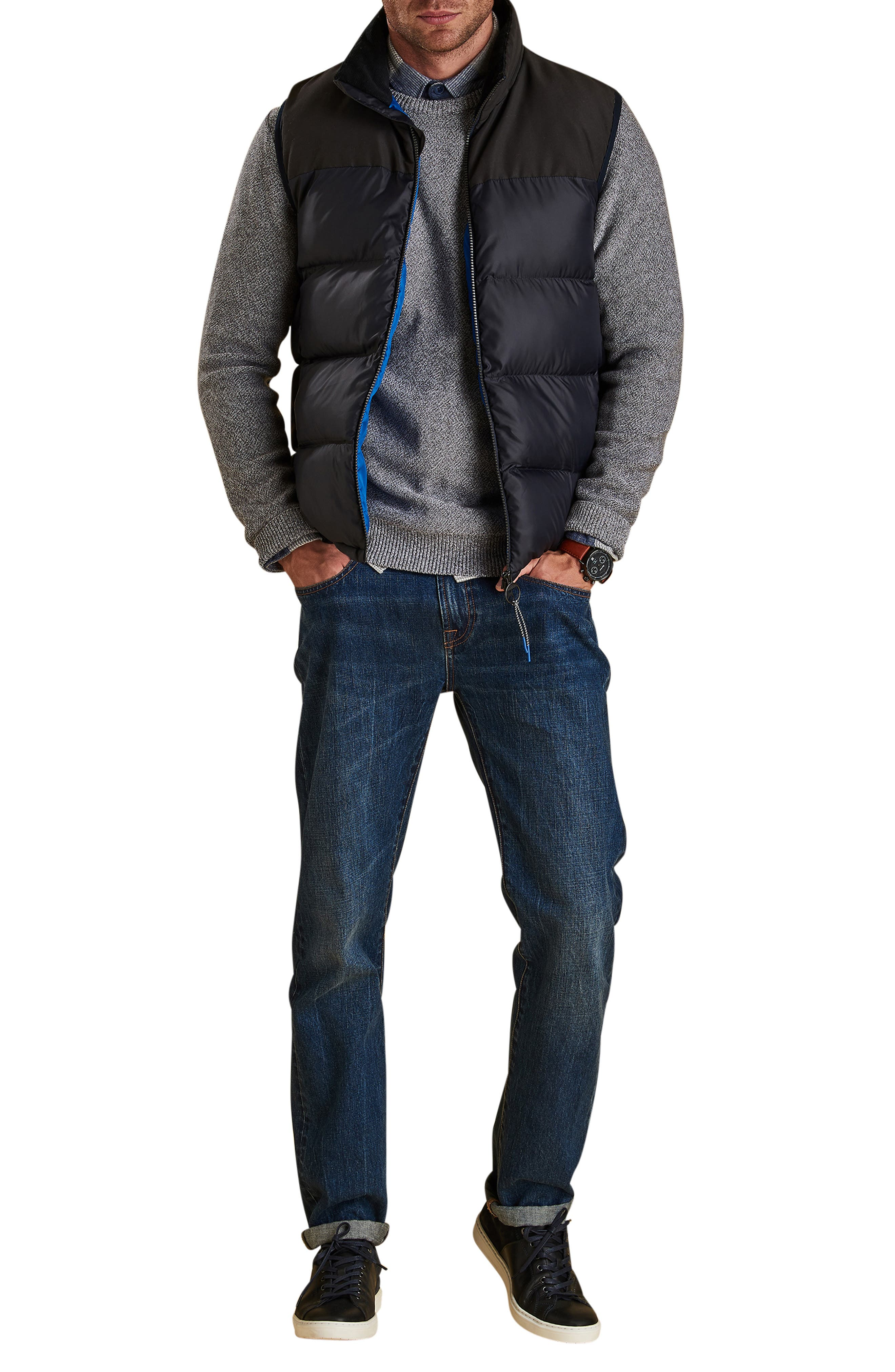 BARBOUR,                             Blank Quilted Vest,                             Alternate thumbnail 5, color,                             NAVY