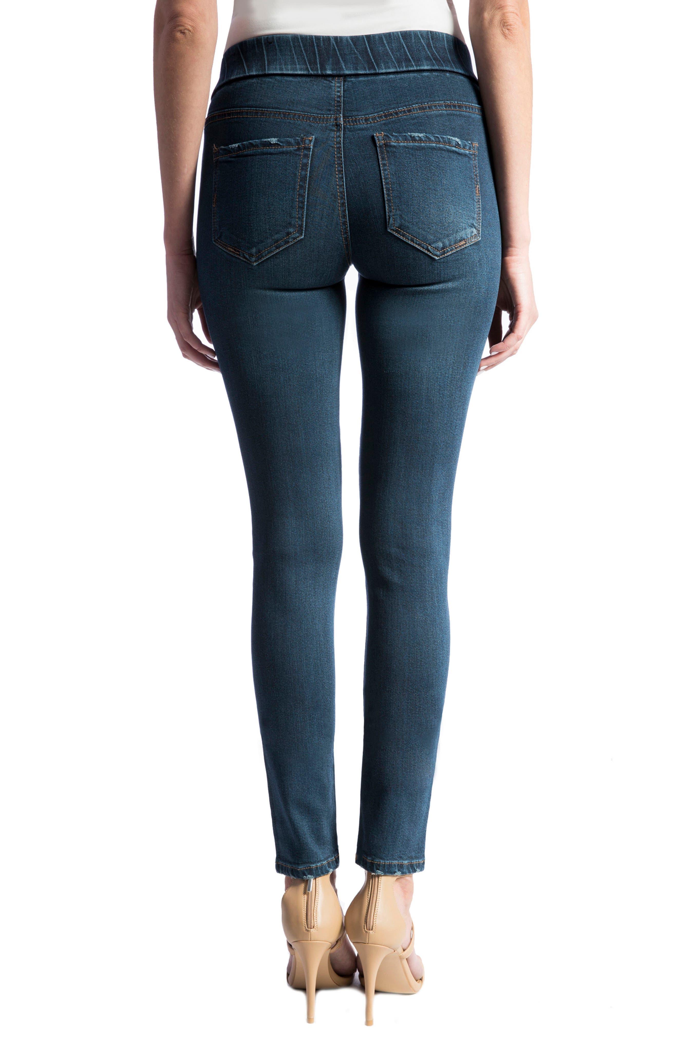 Jeans Company Sienna Mid Rise Soft Stretch Denim Leggings,                             Alternate thumbnail 8, color,