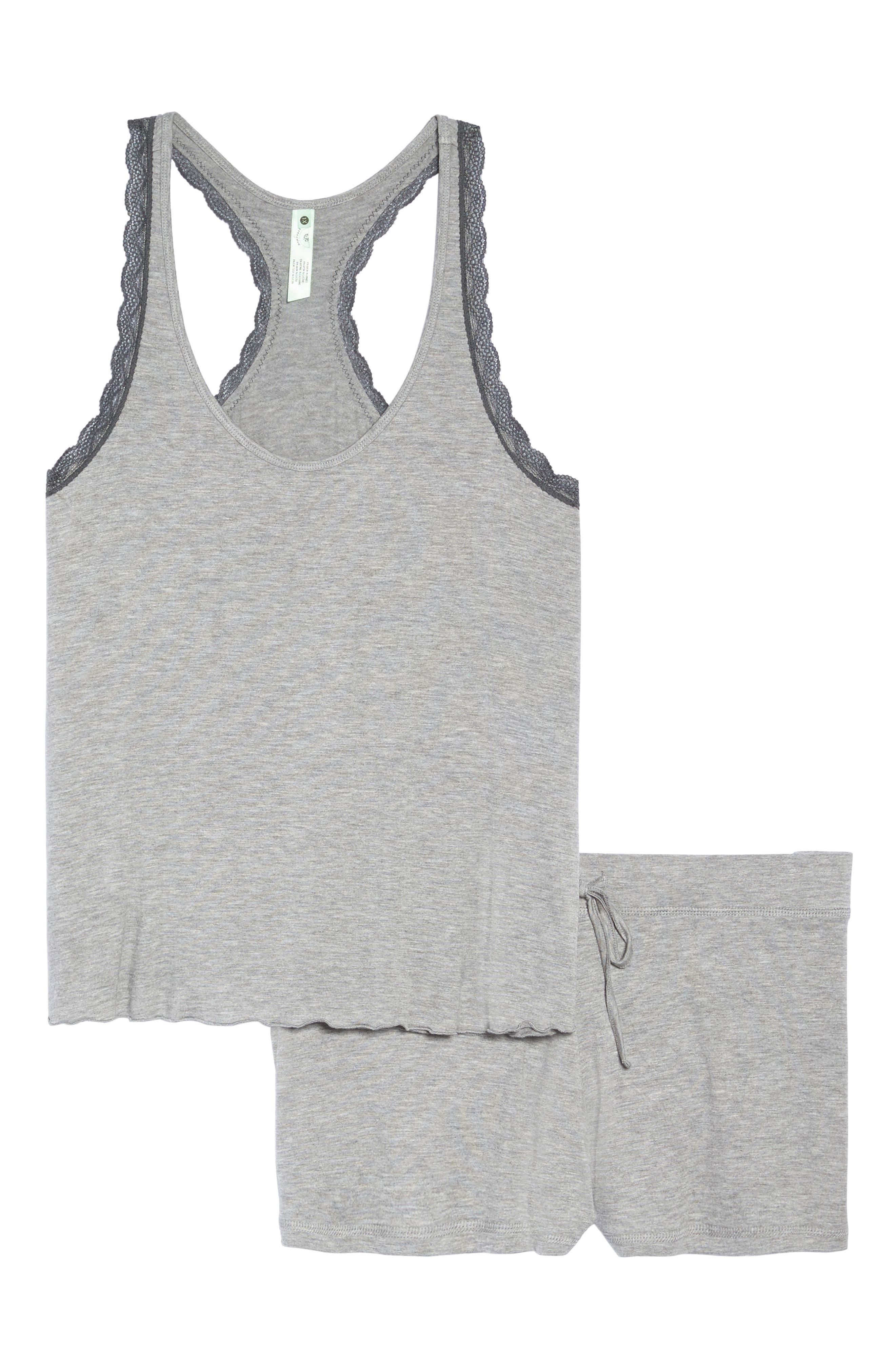 HONEYDEW INTIMATES,                             All American Shortie Pajamas,                             Alternate thumbnail 6, color,                             HEATHER GREY