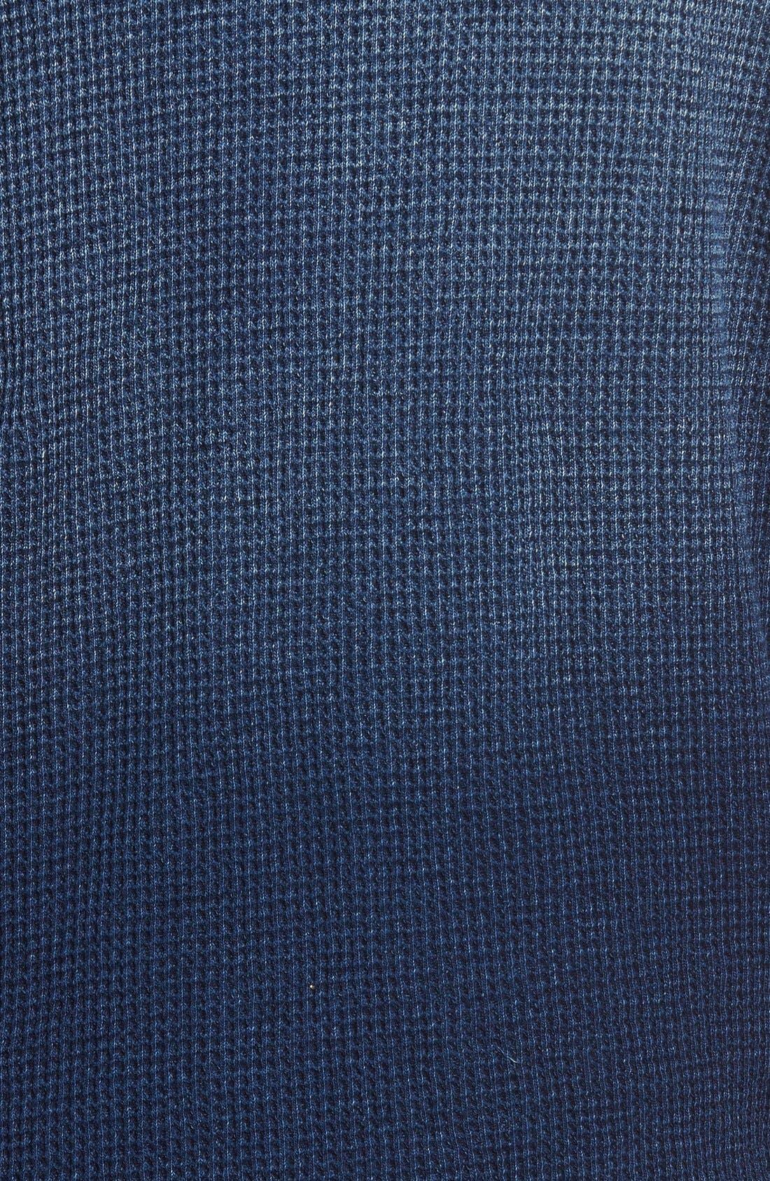 TRUE GRIT,                             Indigo Waffle Knit Zip Hoodie,                             Alternate thumbnail 2, color,                             425