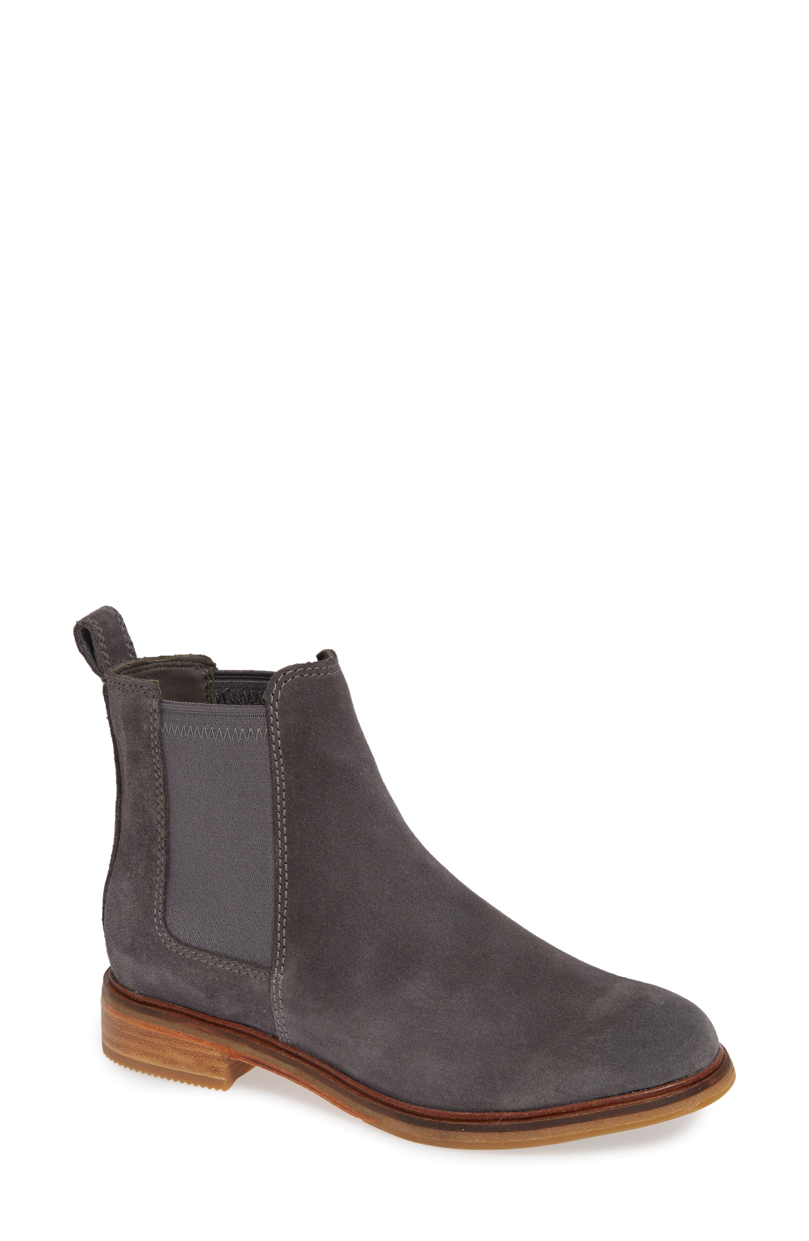 Clarkdale Arlo Boot,                             Main thumbnail 1, color,                             GREY SUEDE