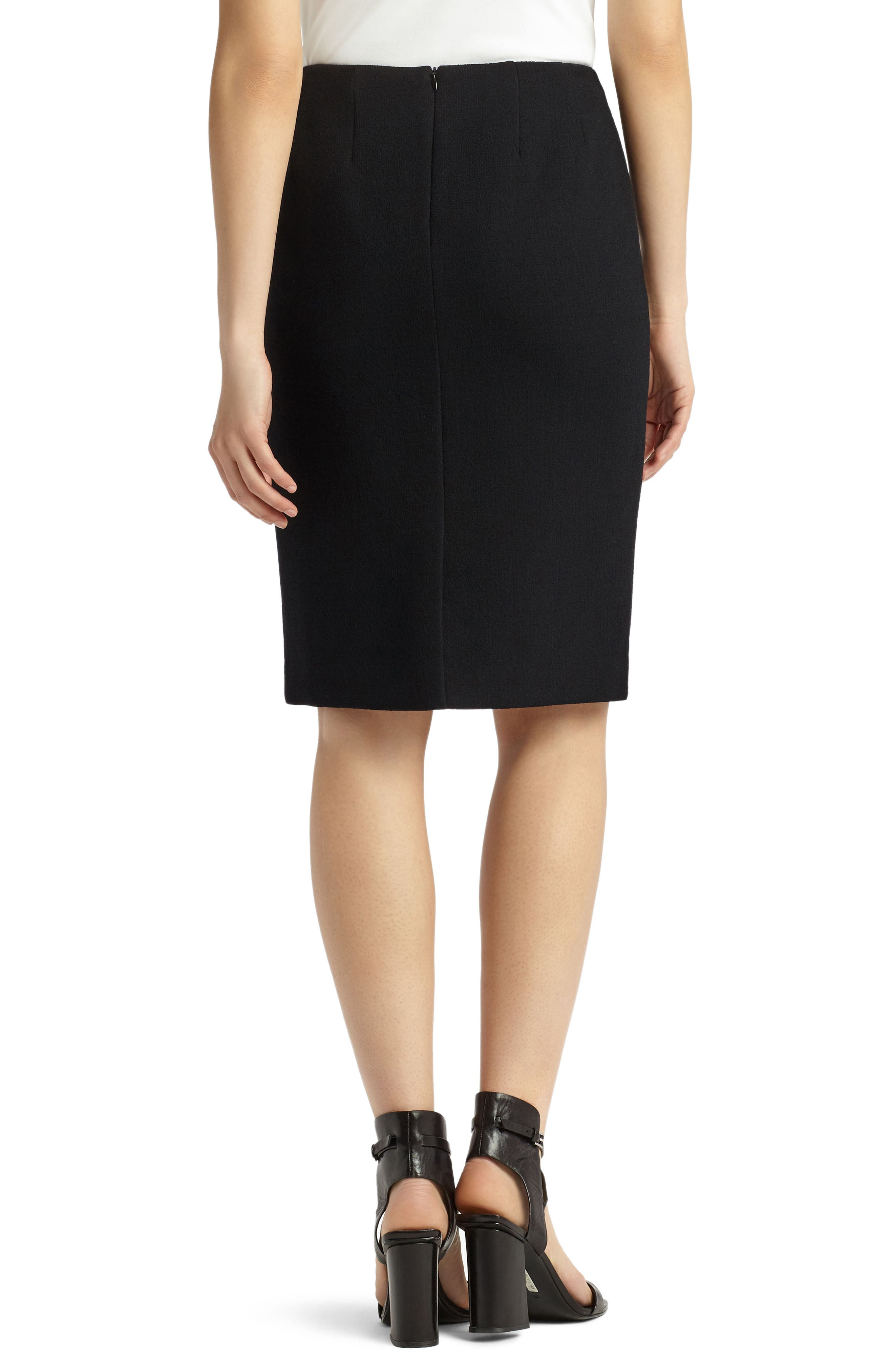 Pencil Skirt with Back Vent,                             Alternate thumbnail 2, color,                             001