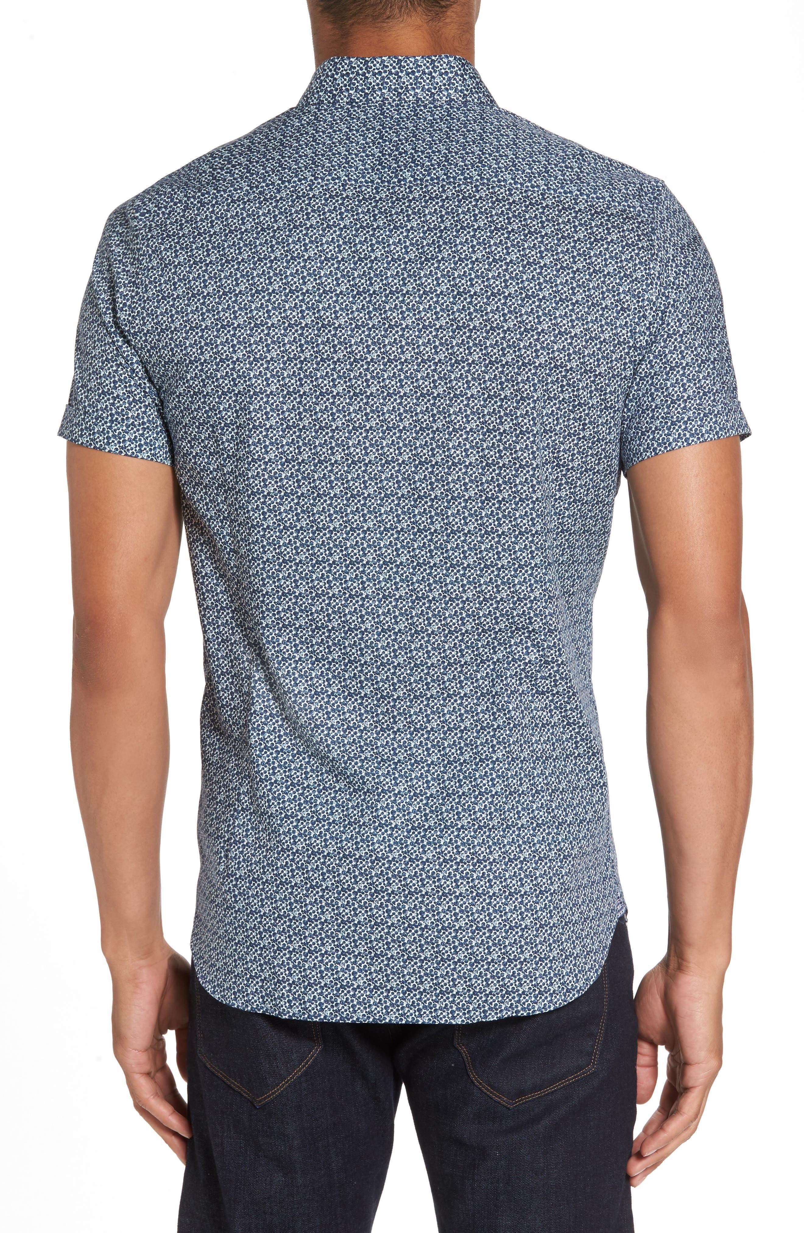 Bubbly Extra Slim Fit Print Sport Shirt,                             Alternate thumbnail 2, color,                             410
