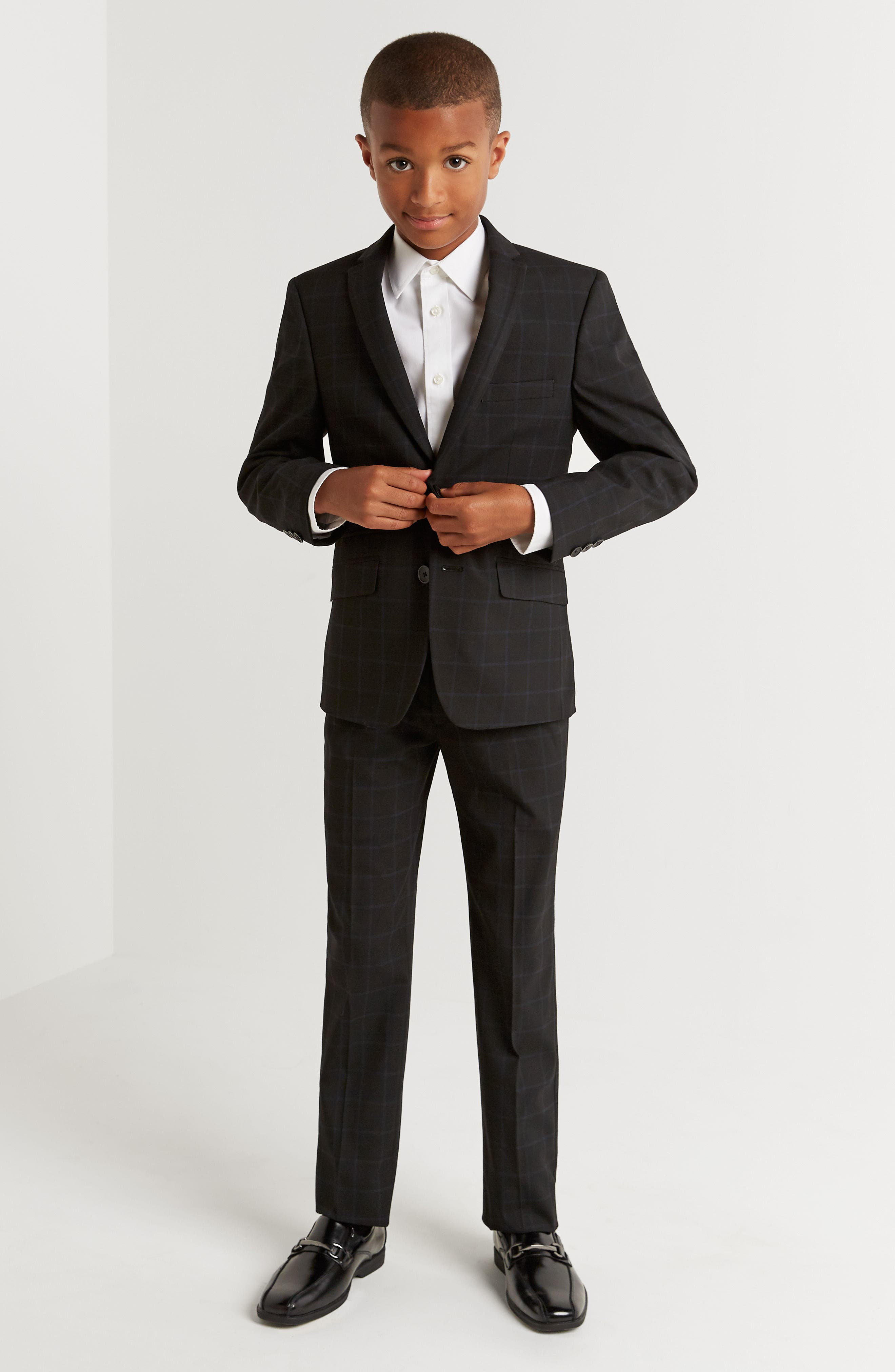 Windowpane Suit,                             Alternate thumbnail 4, color,                             001