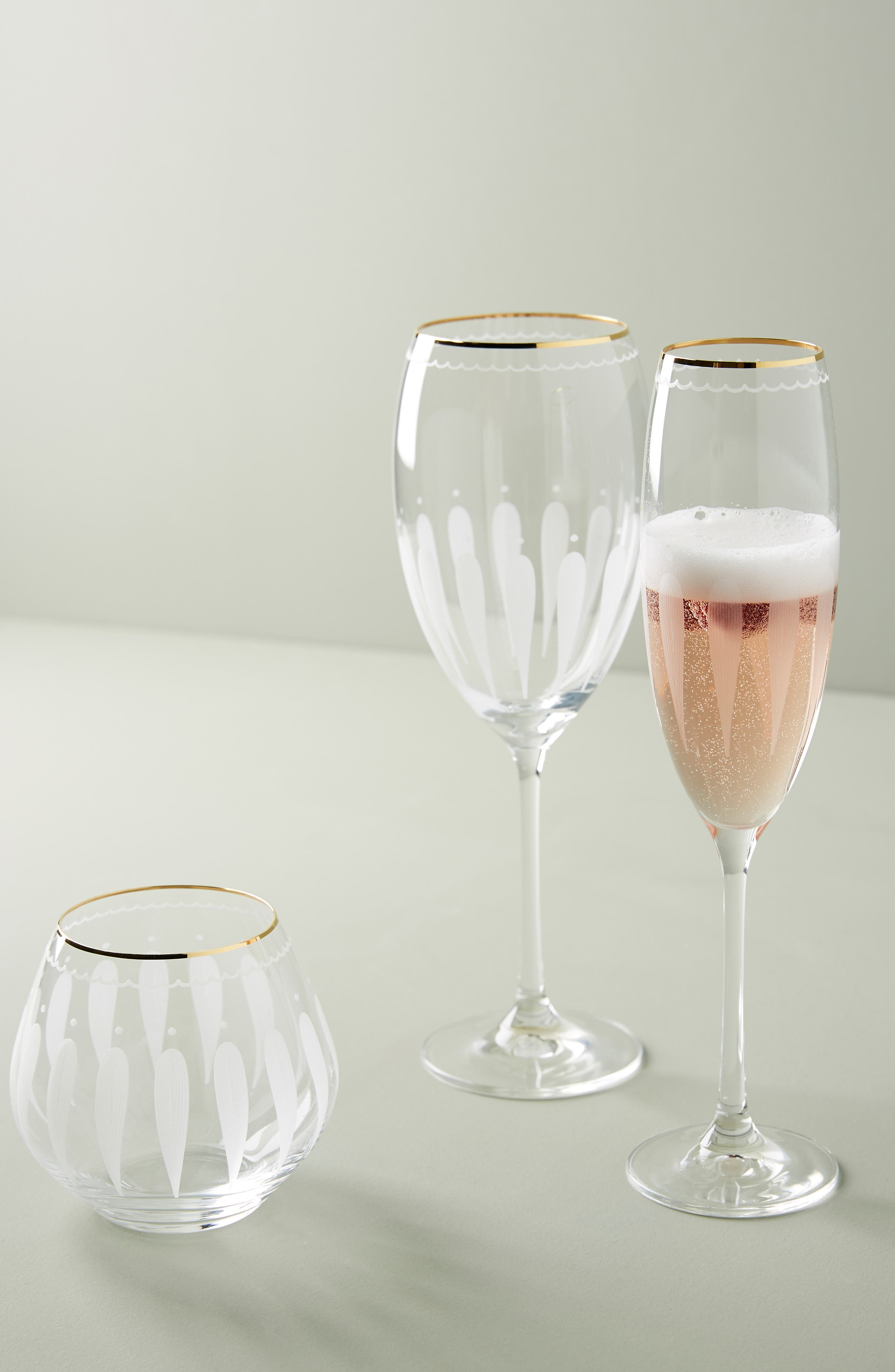 Odele Set of 4 Stemless Wine Glasses,                             Alternate thumbnail 3, color,                             CLEAR