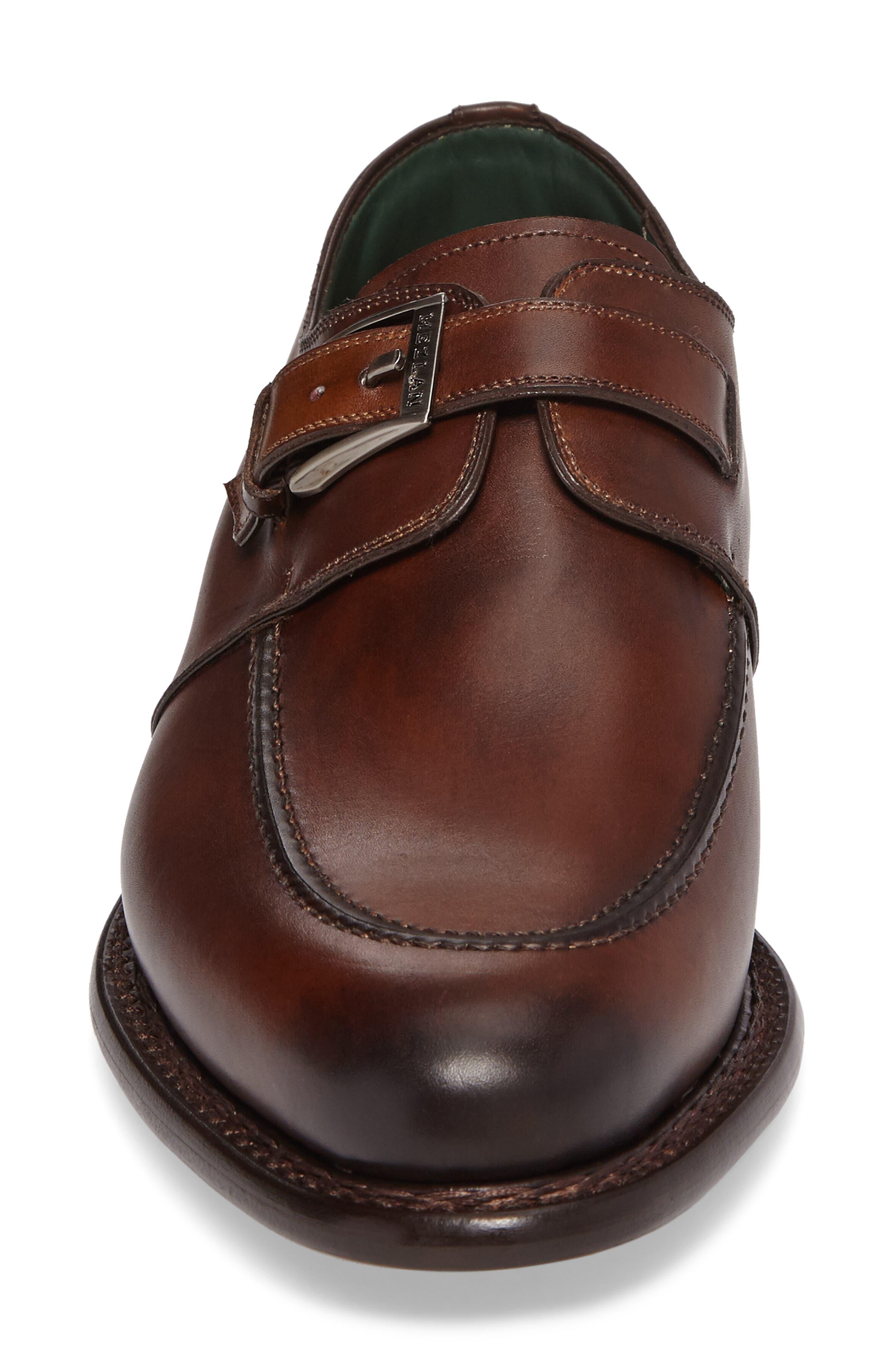 Aguilar Monk Strap Shoe,                             Alternate thumbnail 4, color,                             COGNAC LEATHER