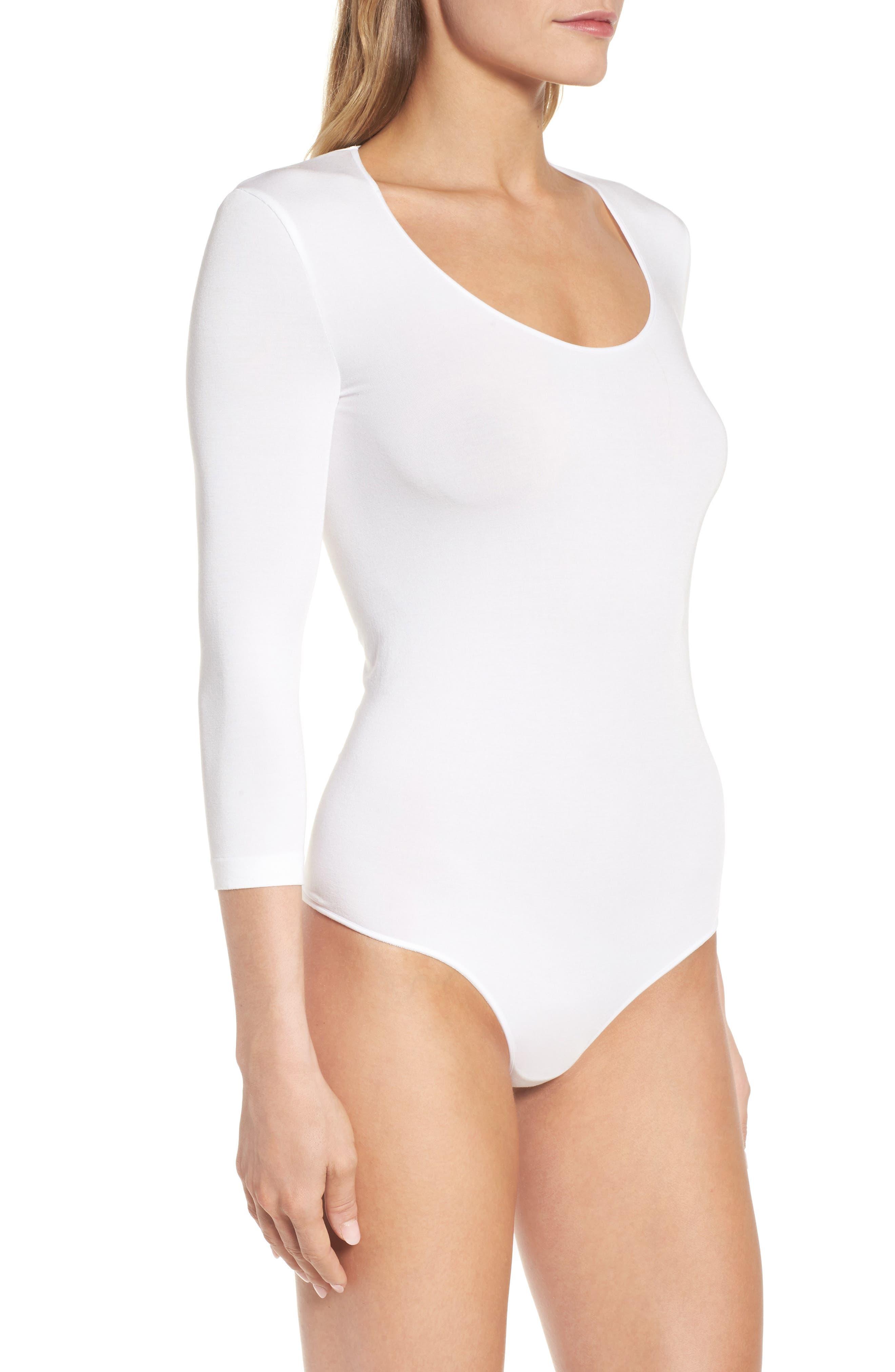 Tokio Thong Bodysuit,                             Alternate thumbnail 3, color,                             WHITE
