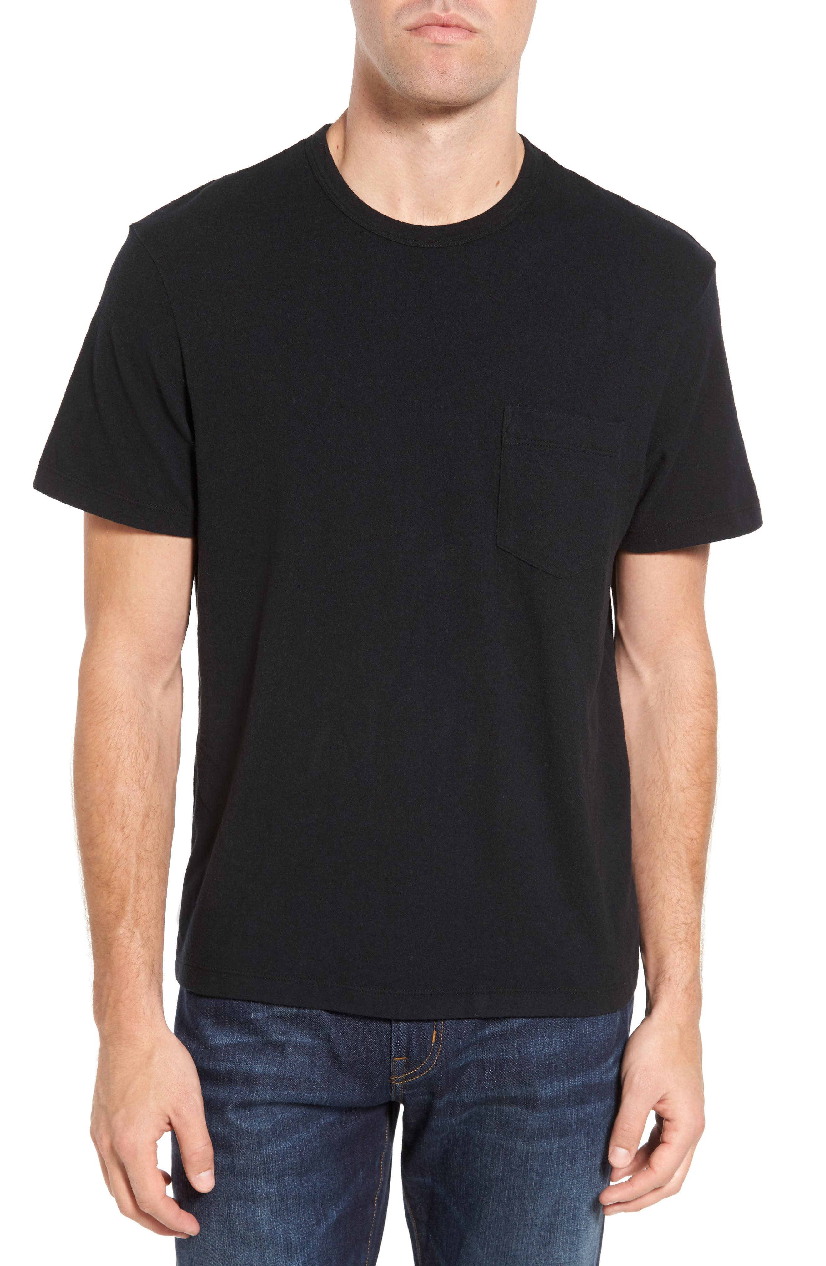 Sueded Jersey Pocket T-Shirt,                         Main,                         color, 001