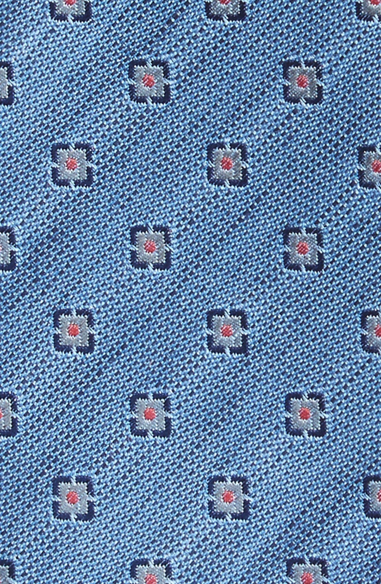 Medallion Scene Silk & Linen Bow Tie,                             Alternate thumbnail 3, color,                             450