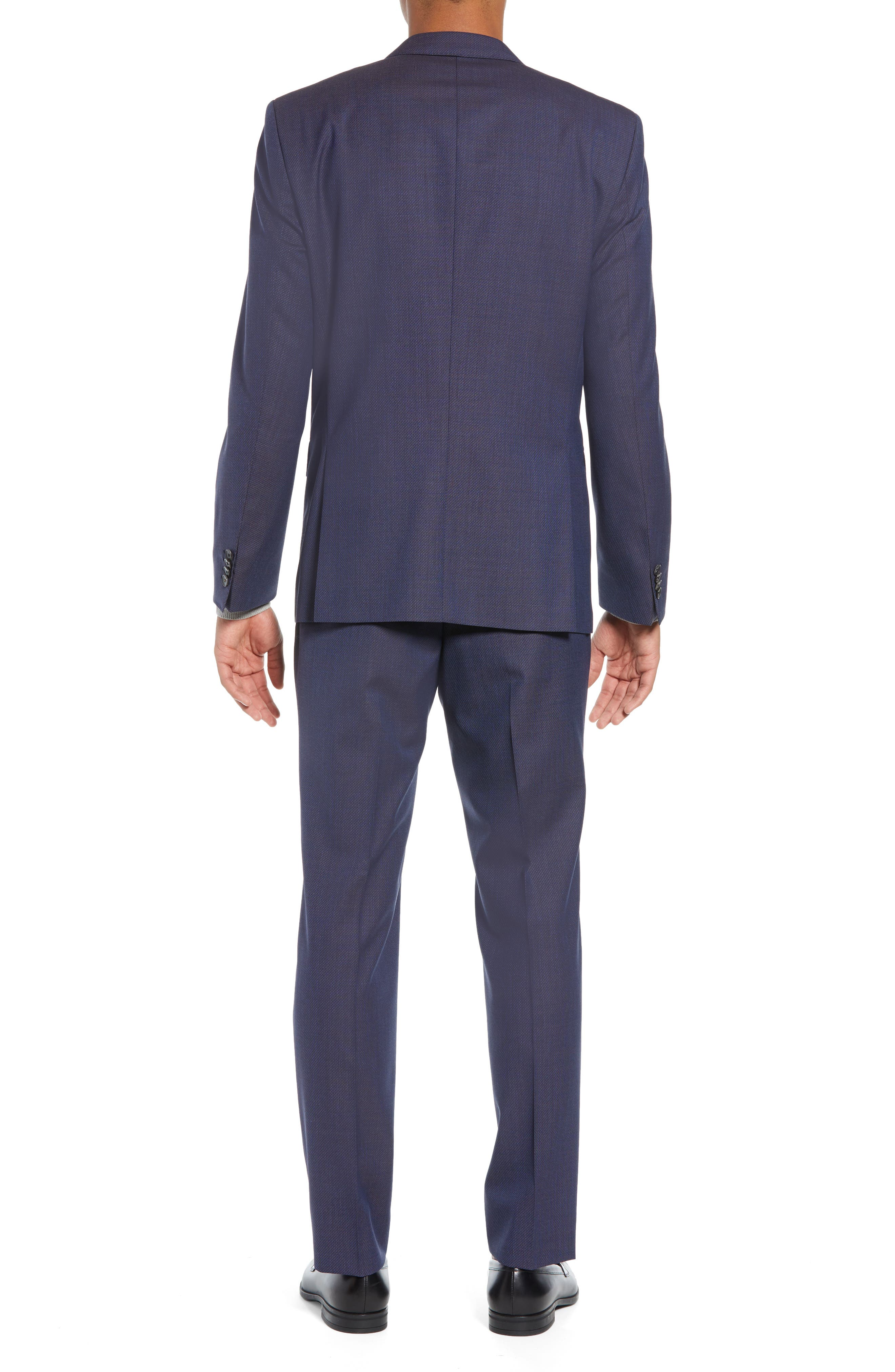 Huge/Genius Trim Fit Solid Wool Suit,                             Alternate thumbnail 2, color,                             OPEN BLUE