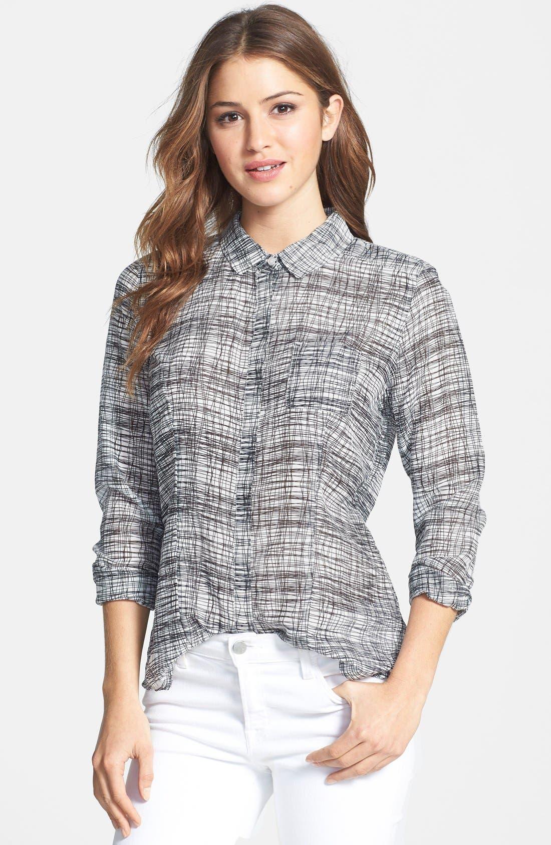 Cotton & Silk Shirt,                             Main thumbnail 43, color,