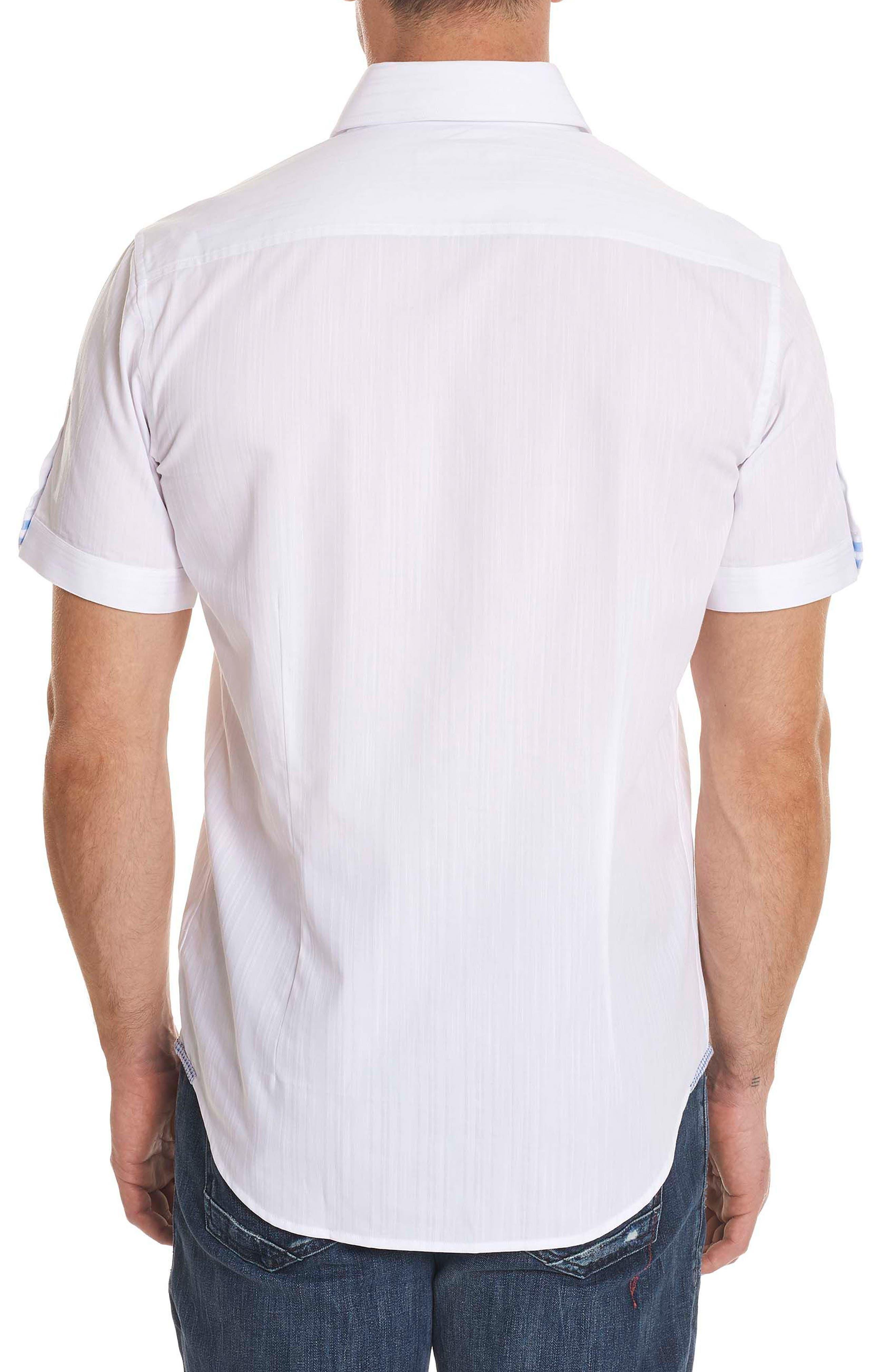 Livingston Regular Fit Short Sleeve Sport Shirt,                             Alternate thumbnail 2, color,                             100