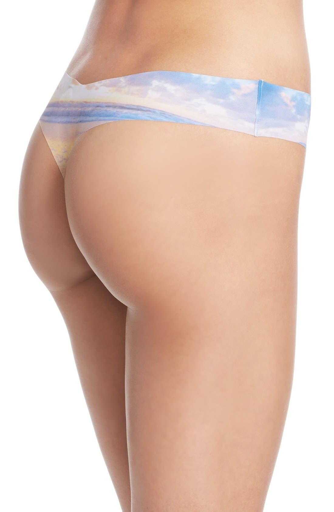 Print Microfiber Thong,                             Alternate thumbnail 243, color,