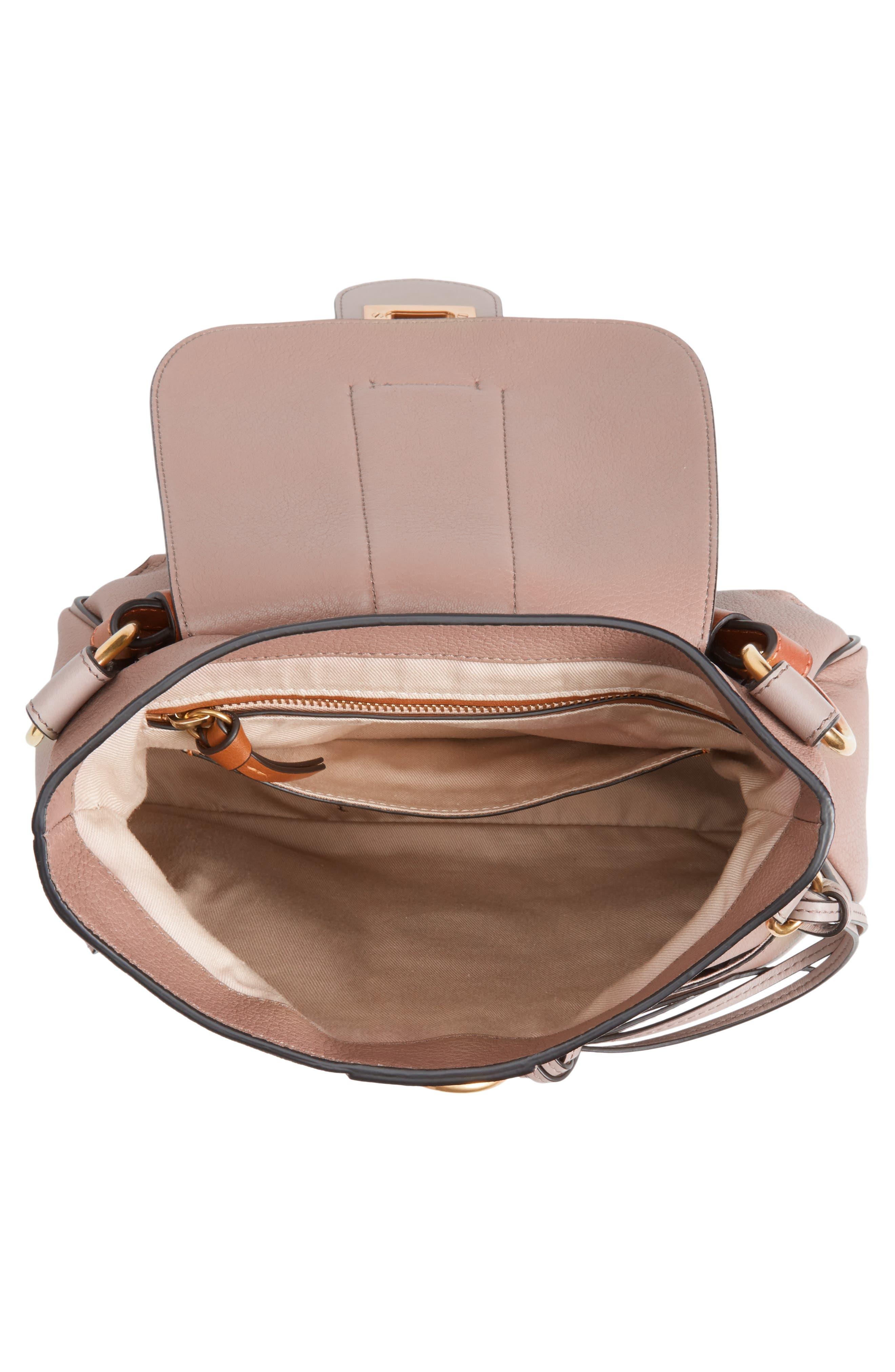 CHLOÉ,                             Small Lexa Leather Shoulder Bag,                             Alternate thumbnail 4, color,                             031