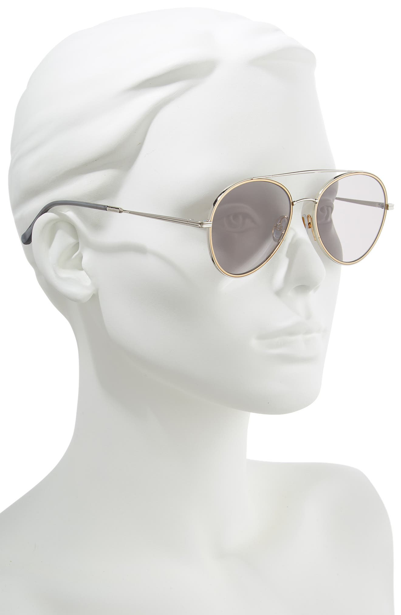 Wire II 54mm Aviator Sunglasses,                             Alternate thumbnail 2, color,                             SILVER