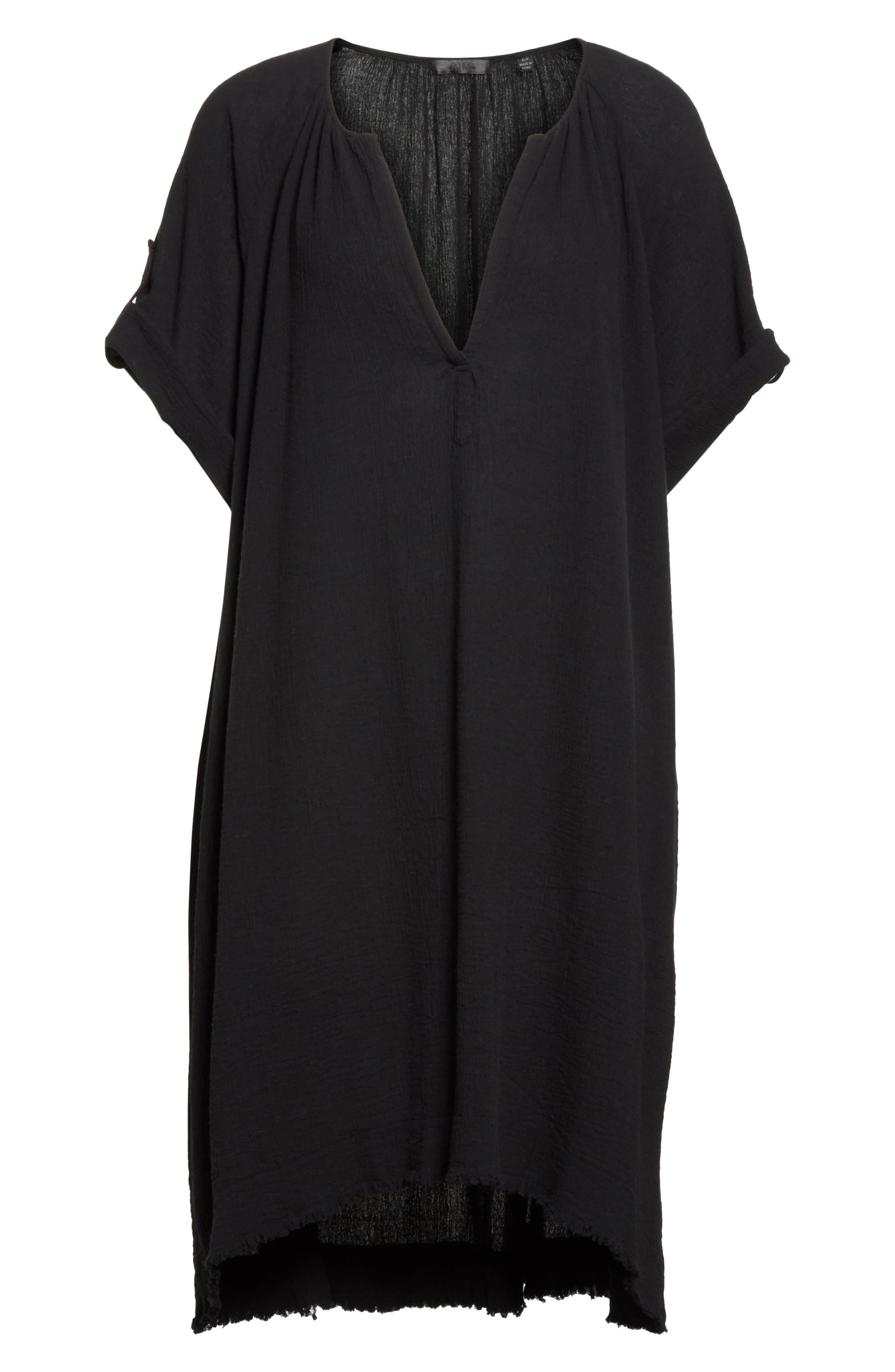 Gauze Dress,                             Alternate thumbnail 7, color,                             001