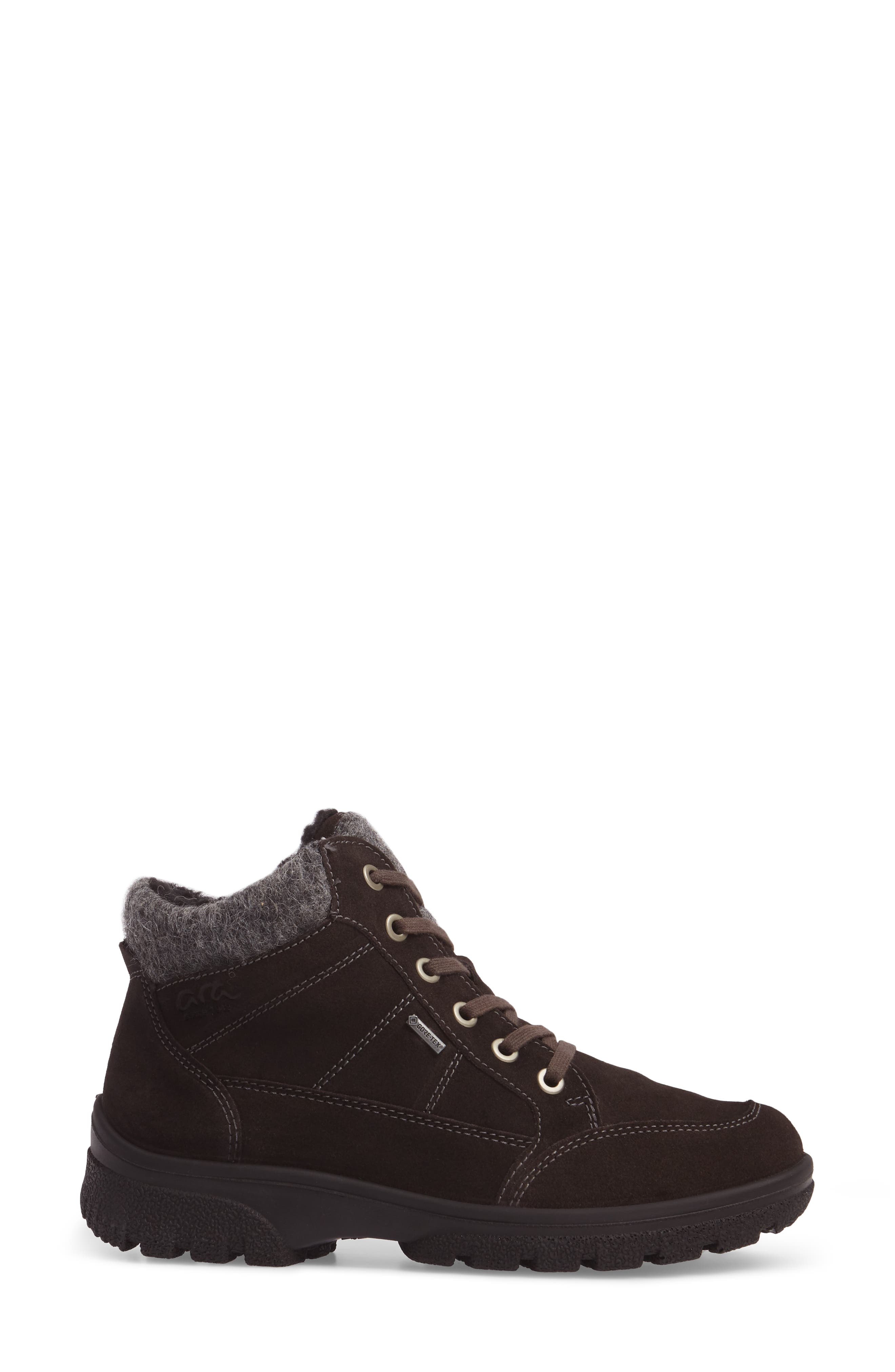Waterproof Gore-Tex<sup>®</sup> Hiking Boot,                             Alternate thumbnail 3, color,                             LAVA SUEDE