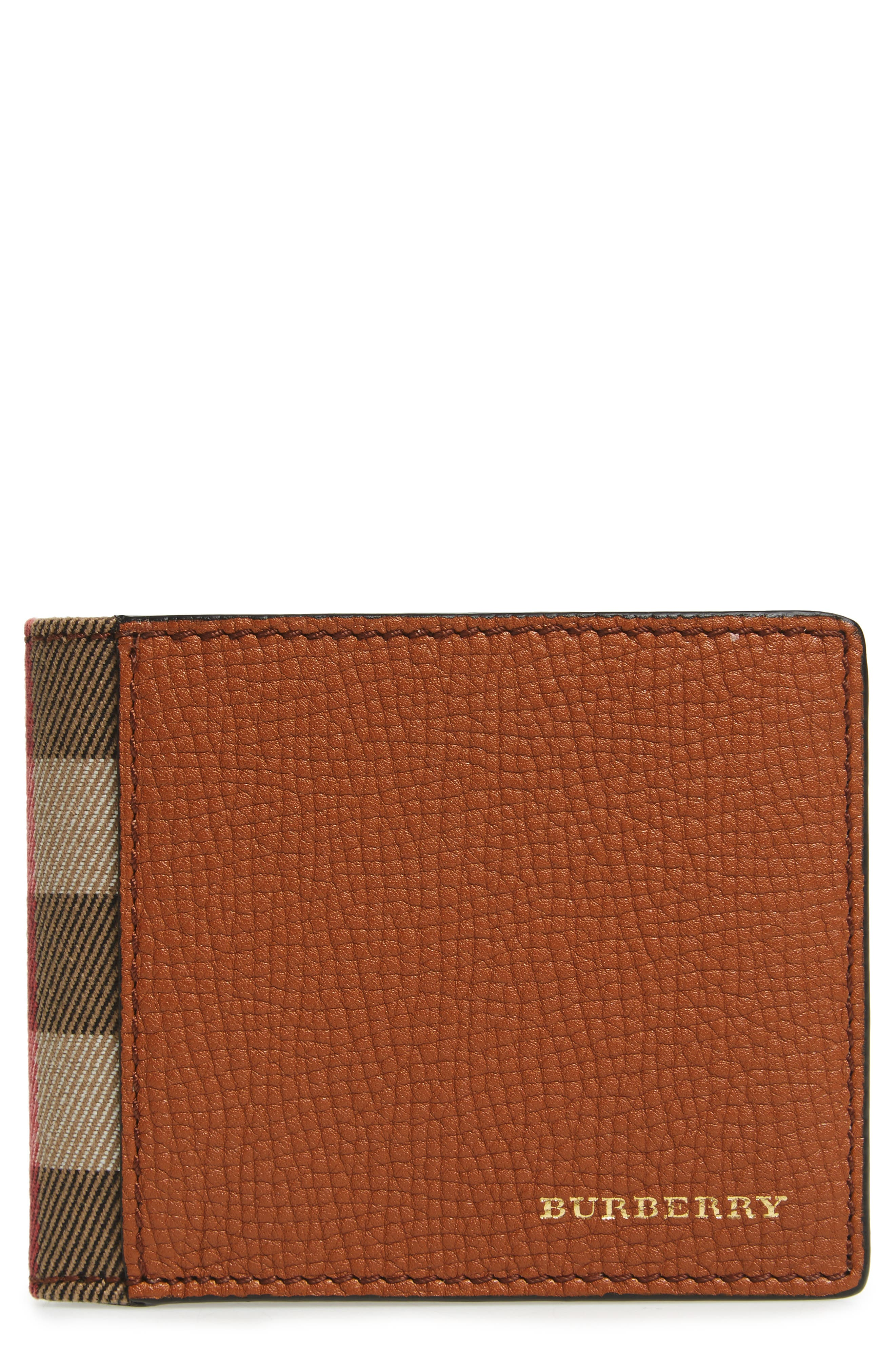 Leather Wallet,                         Main,                         color, 230