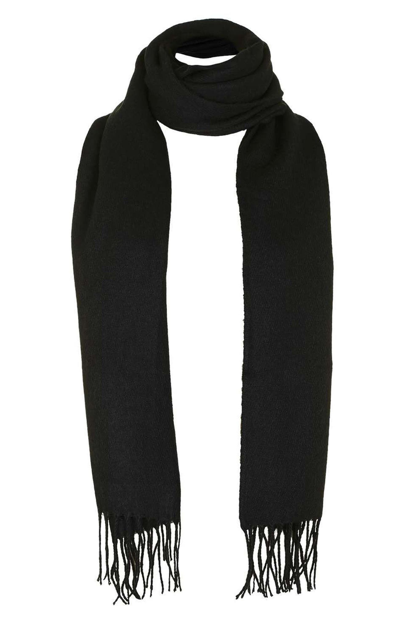 Fringed Scarf,                             Alternate thumbnail 2, color,                             001