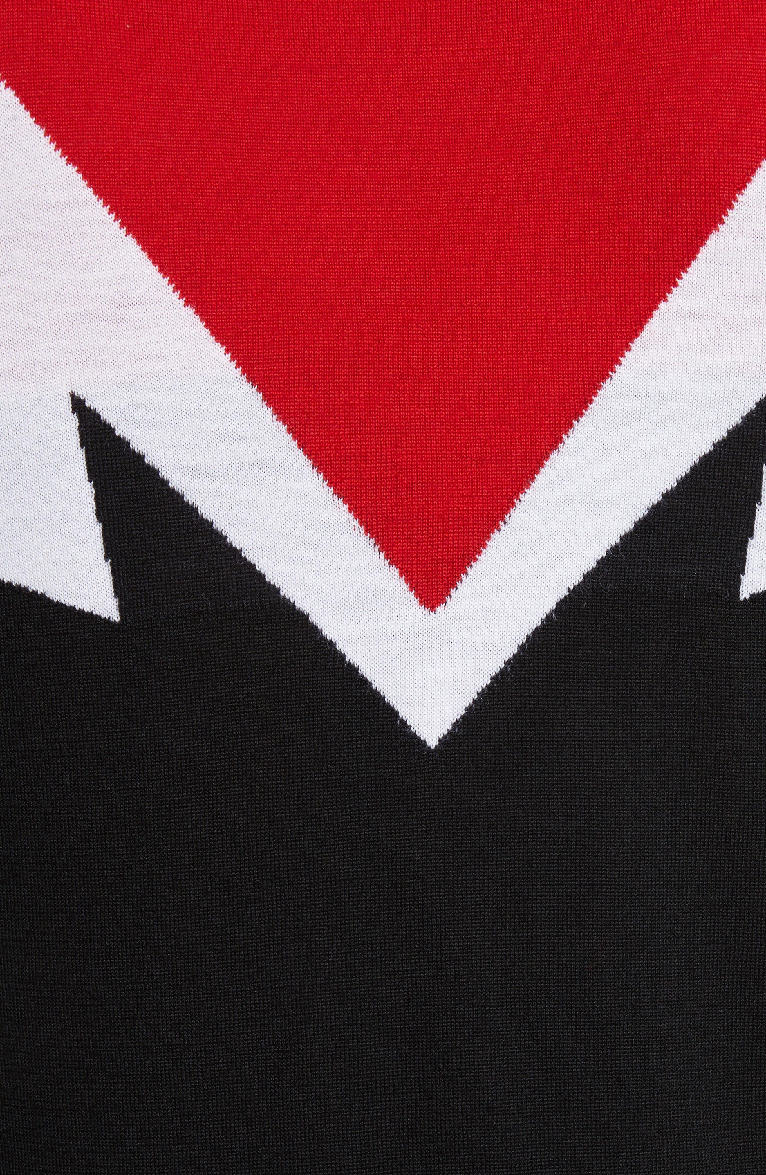 Colorblock Thunderbolt Merino Wool Sweater,                             Alternate thumbnail 5, color,