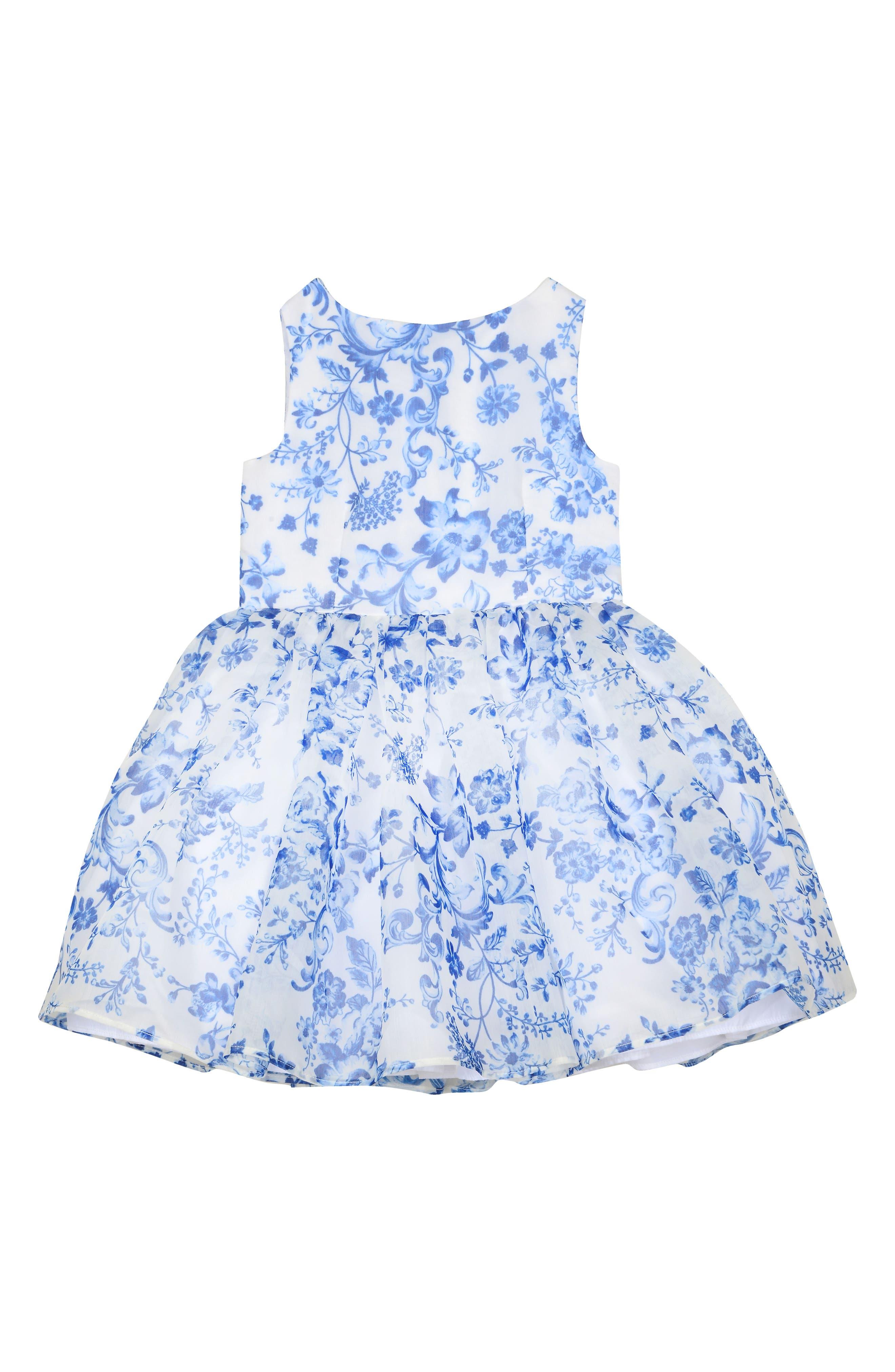 Provençal Print Dress,                         Main,                         color, 402
