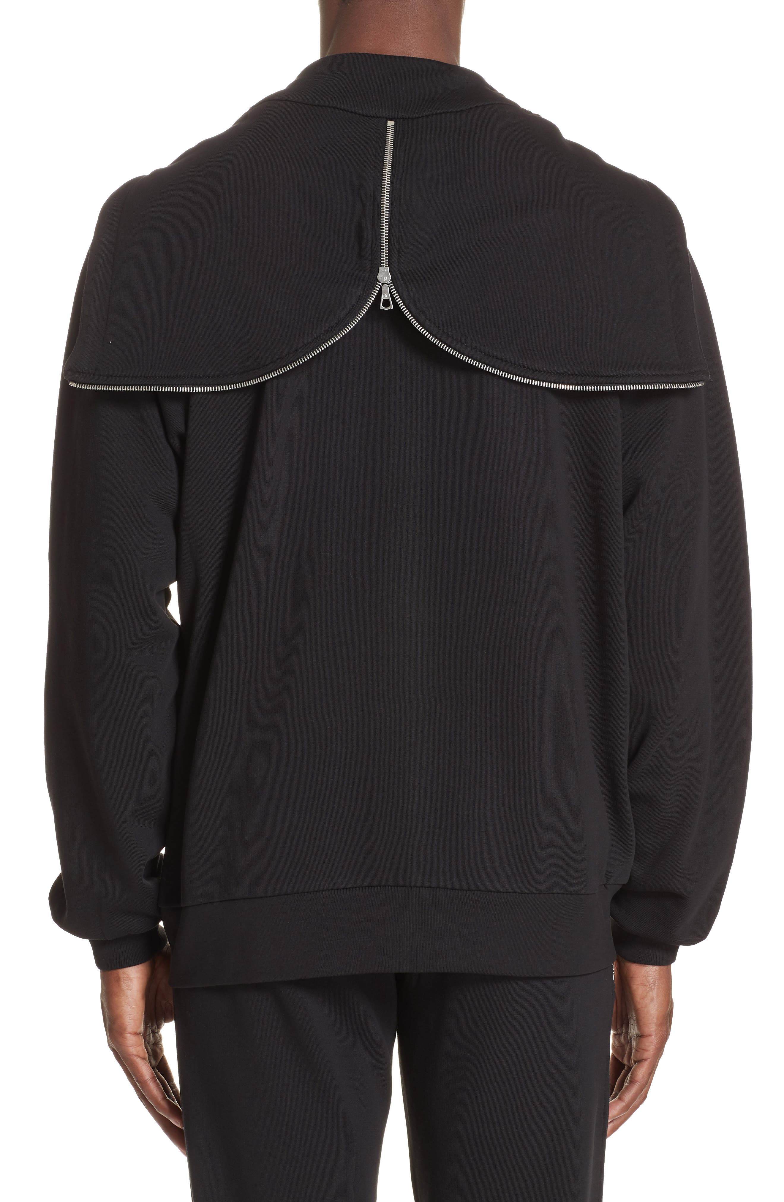Oversize Hoodie,                             Alternate thumbnail 2, color,                             BLACK