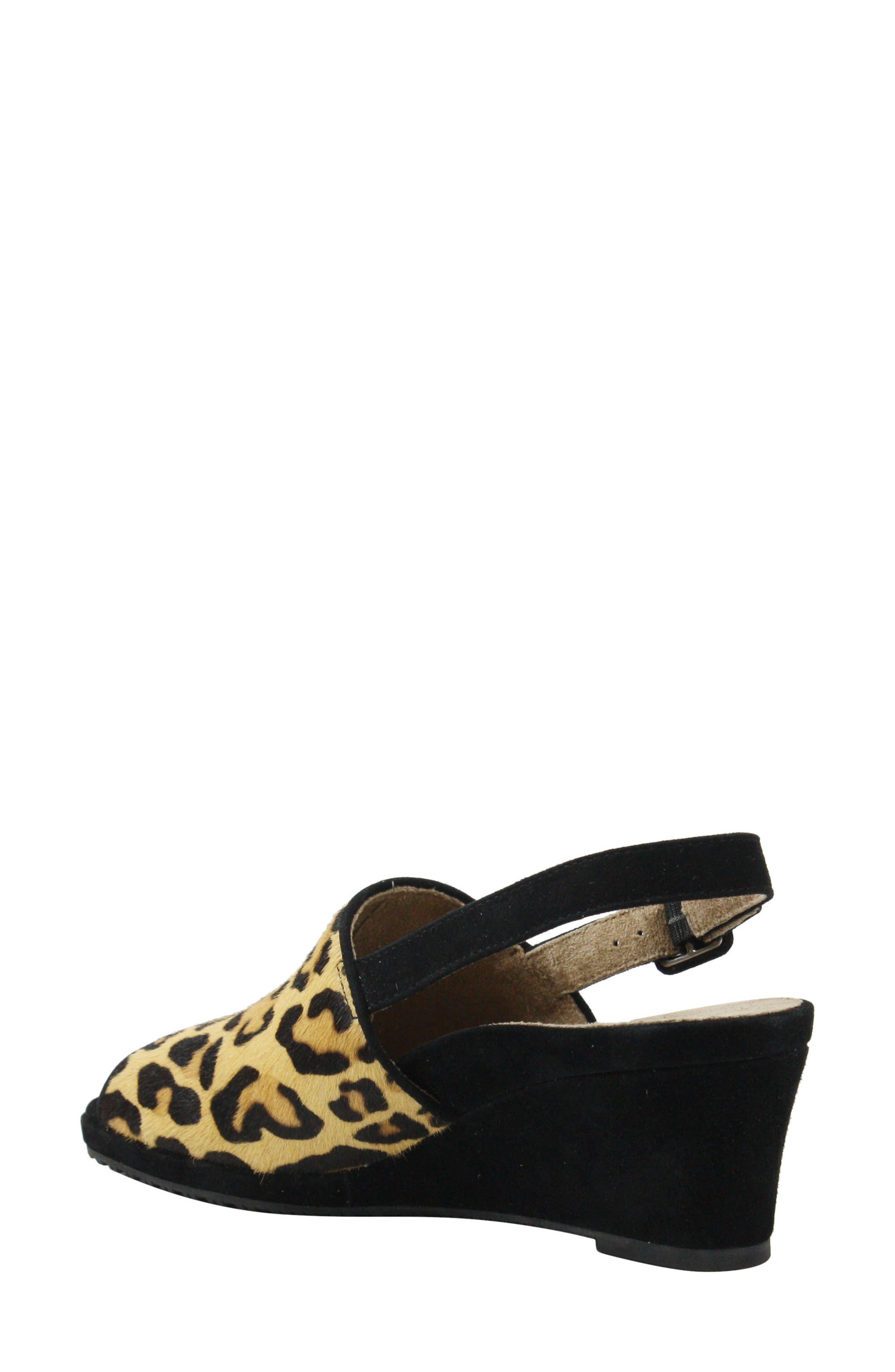 J.Reneé Anselma Genuine Calf Hair Wedge Sandal,                             Alternate thumbnail 2, color,                             LEOPARD CALF HAIR