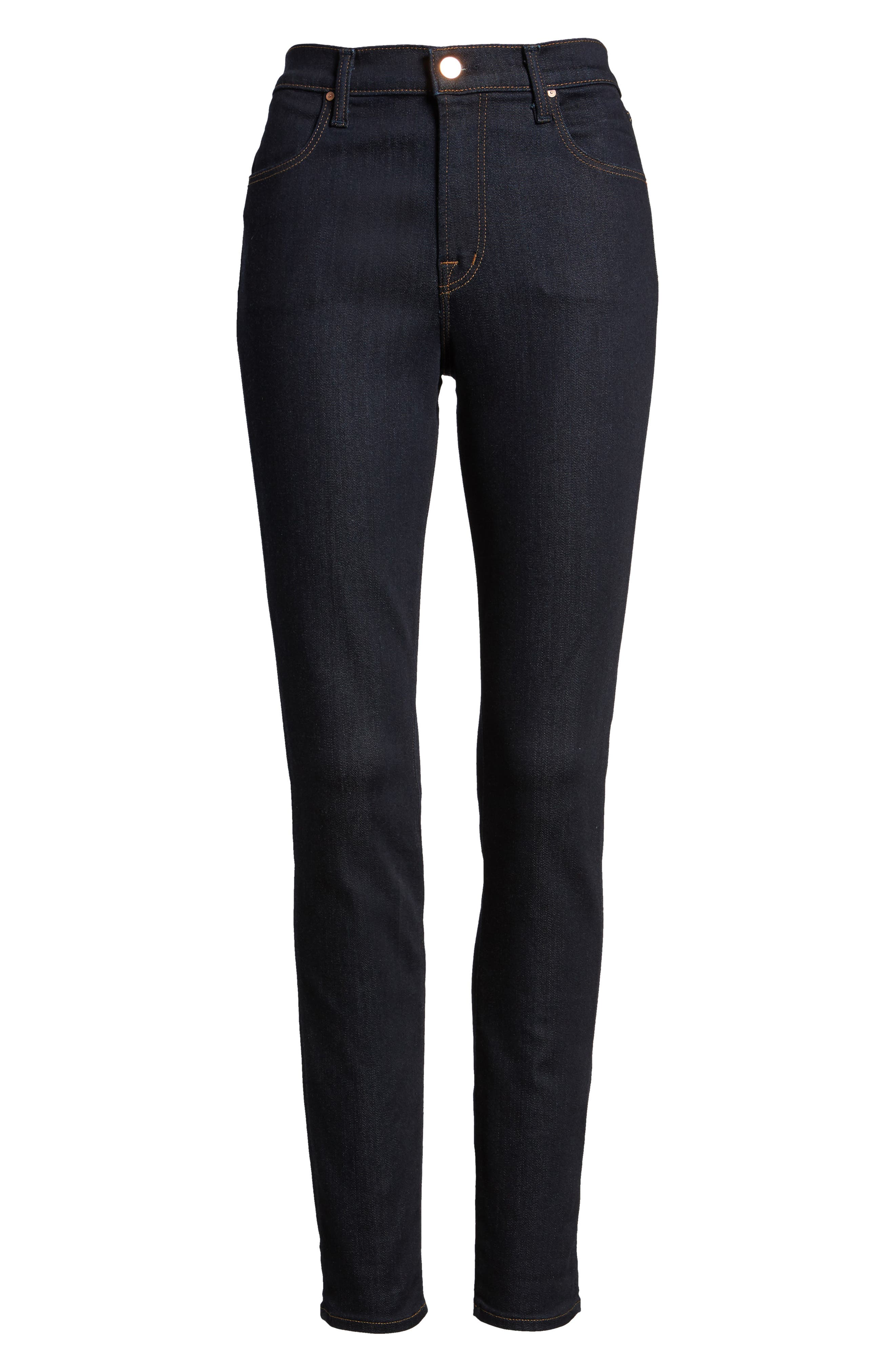 Maria High Waist Super Skinny Jeans,                             Alternate thumbnail 6, color,                             AFTER DARK