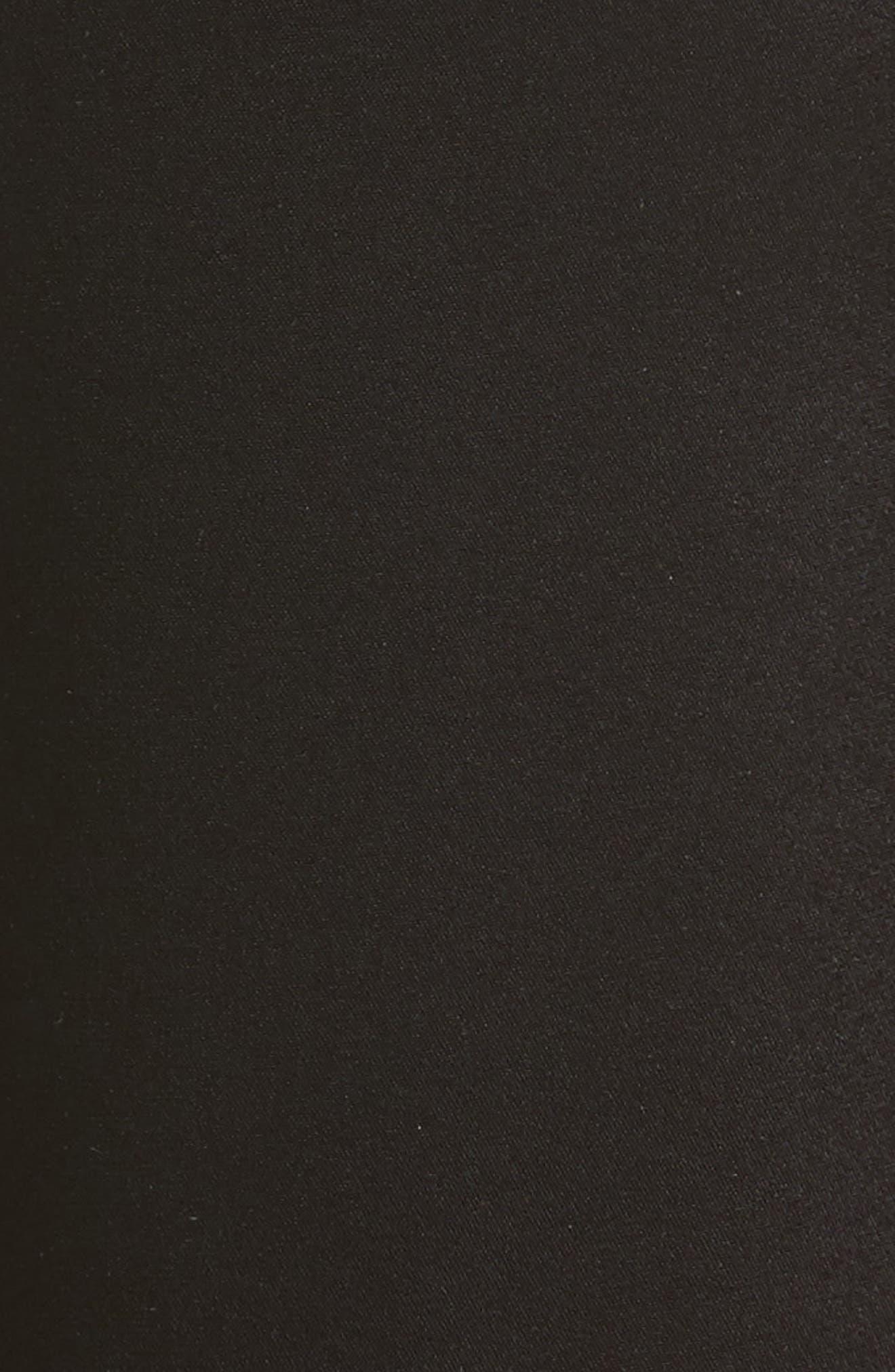 'Kate' Liquid Satin Pants,                             Alternate thumbnail 6, color,                             CAVIAR