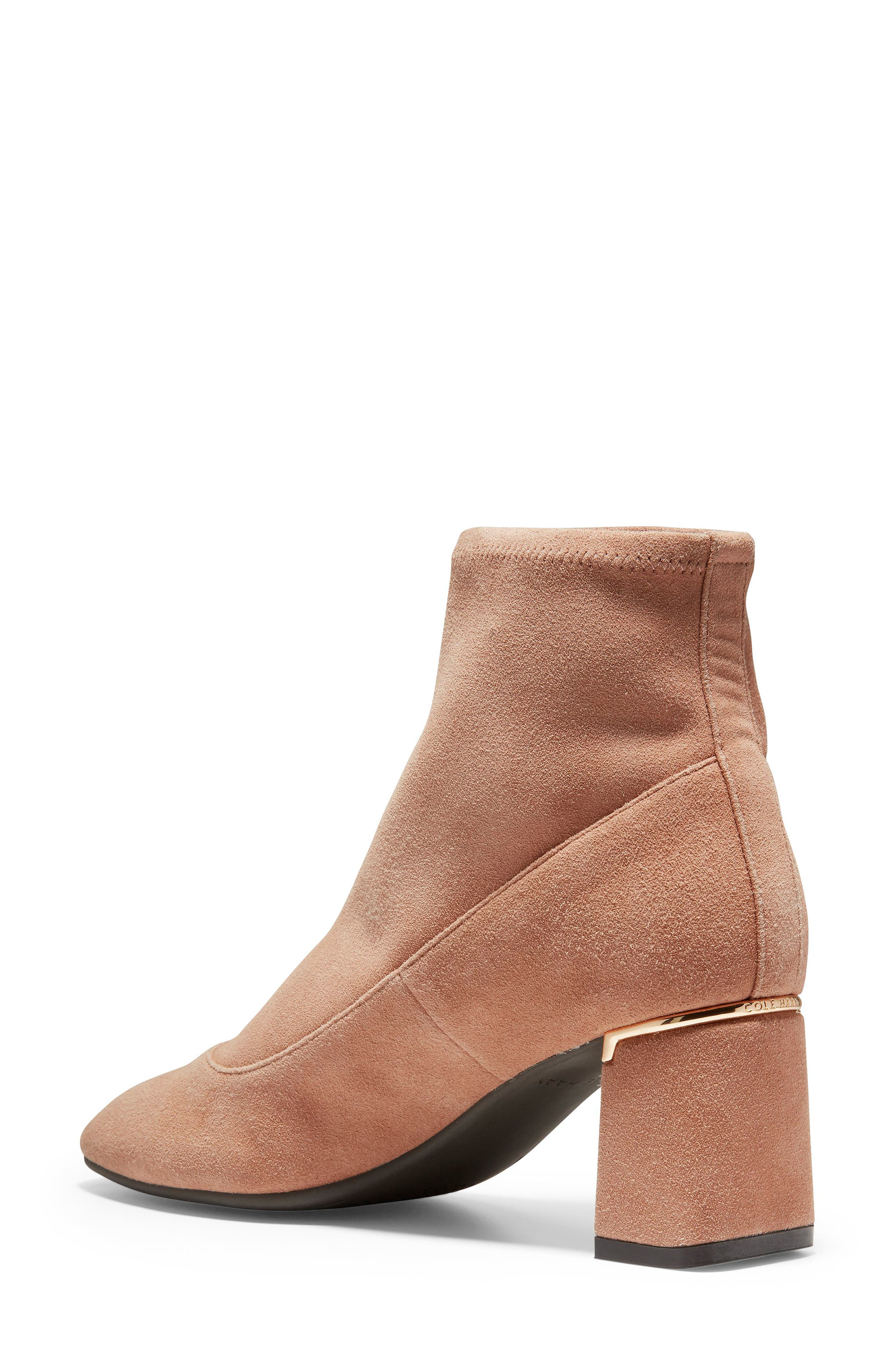 Laree Stretch Bootie,                             Alternate thumbnail 2, color,                             MOCHA STRETCH SUEDE