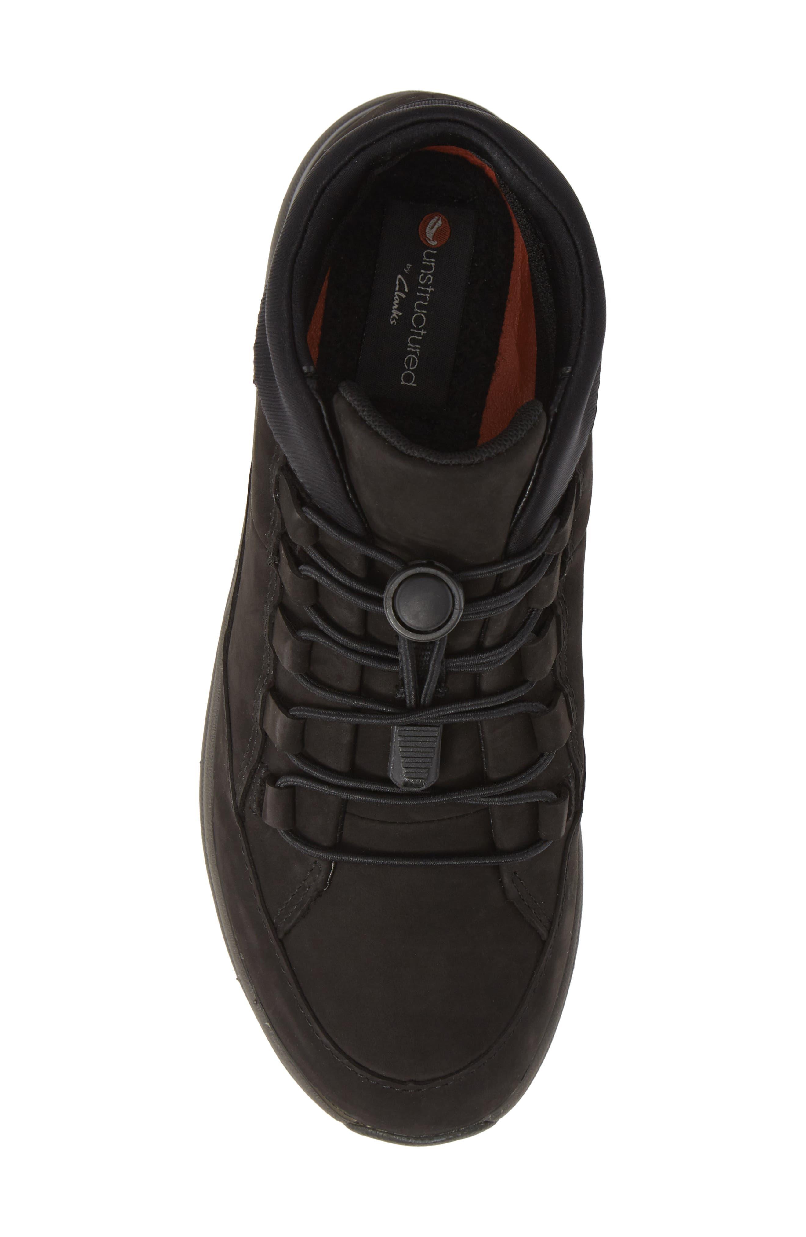 Un Cruise Lace-Up Sneaker,                             Alternate thumbnail 5, color,                             BLACK NUBUCK