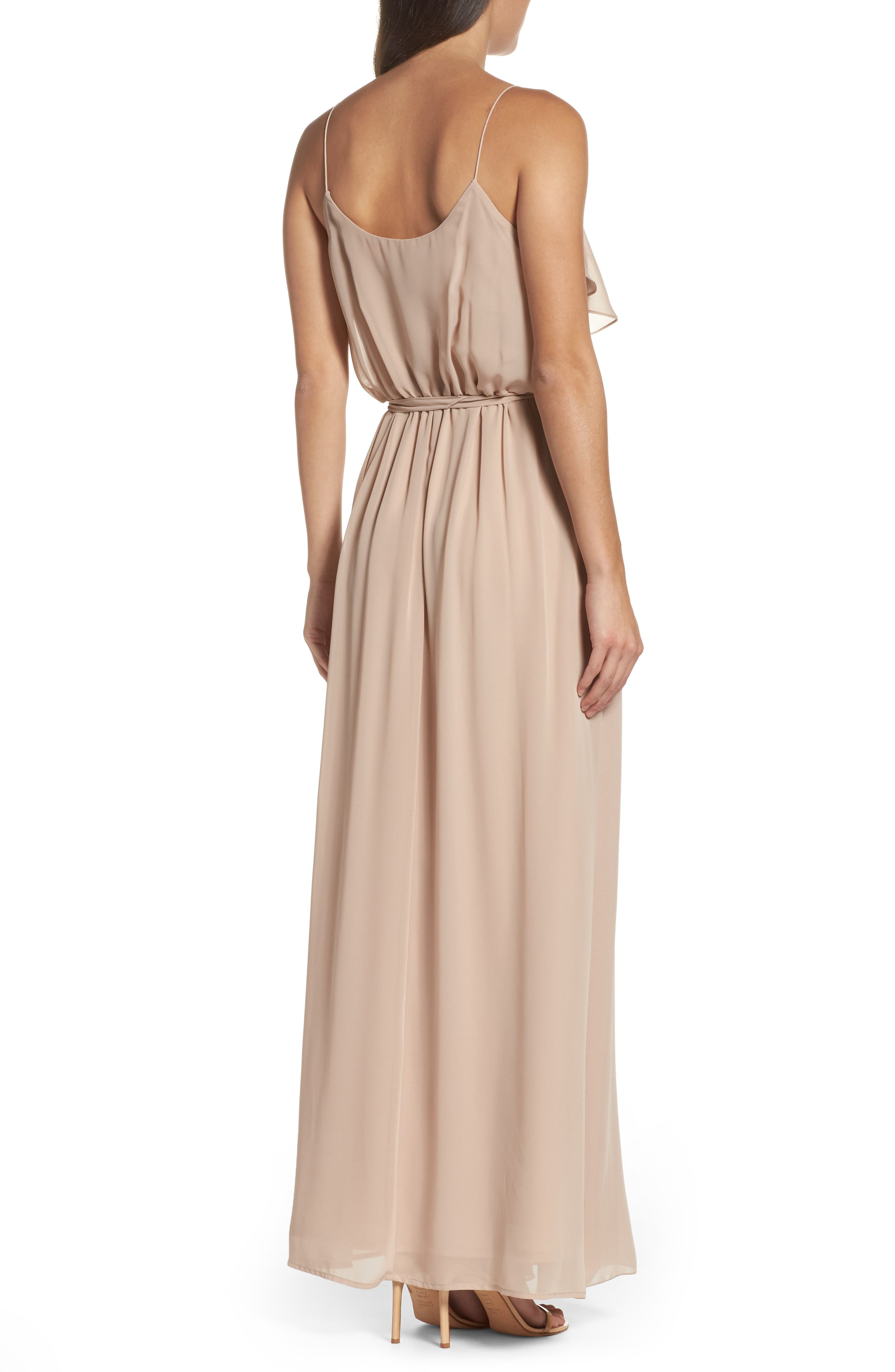 'Drew' Ruffle Front Chiffon Gown,                             Alternate thumbnail 30, color,