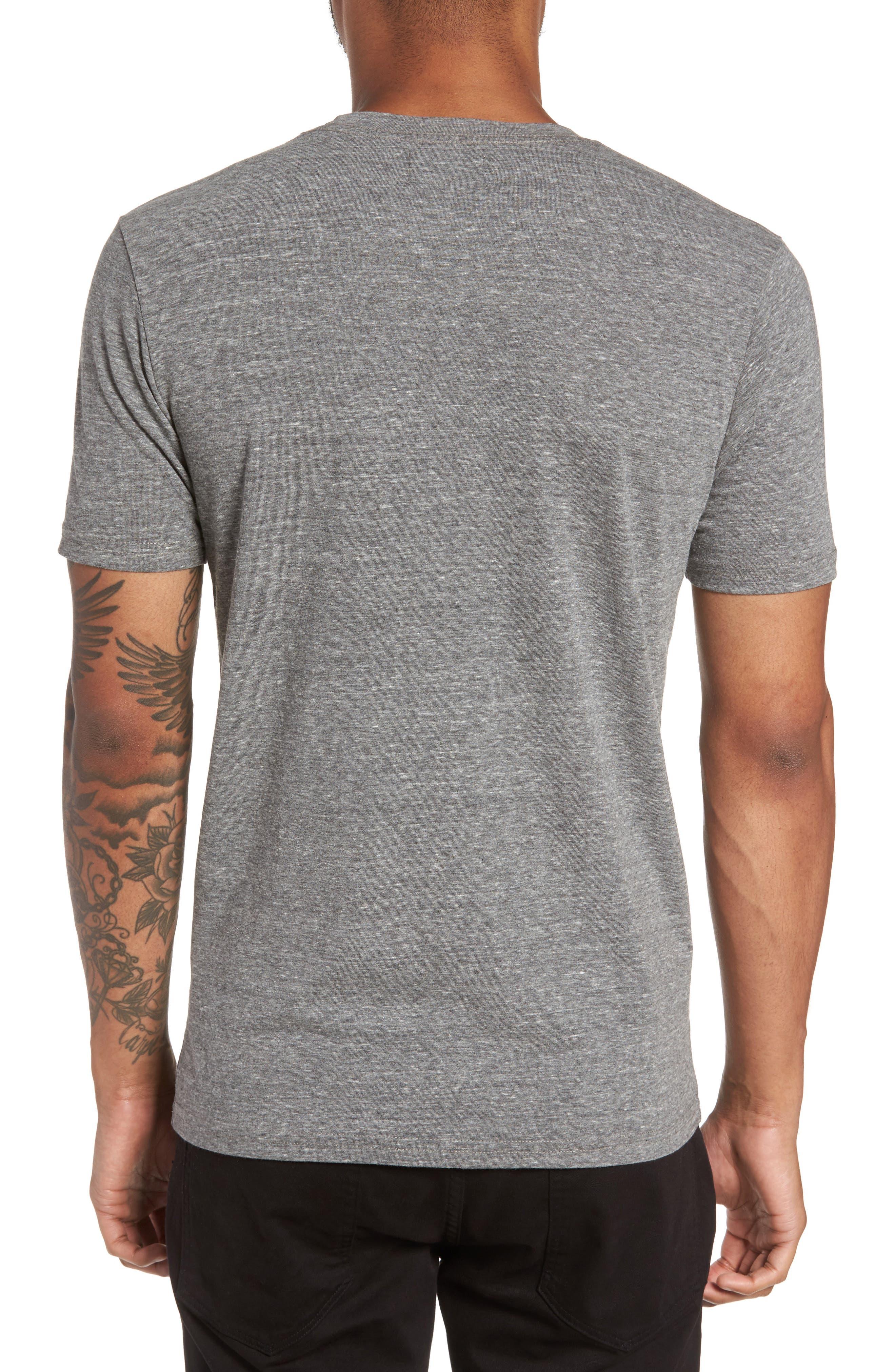 Supima Cotton Blend Crewneck T-Shirt,                             Alternate thumbnail 2, color,                             HEATHER GREY