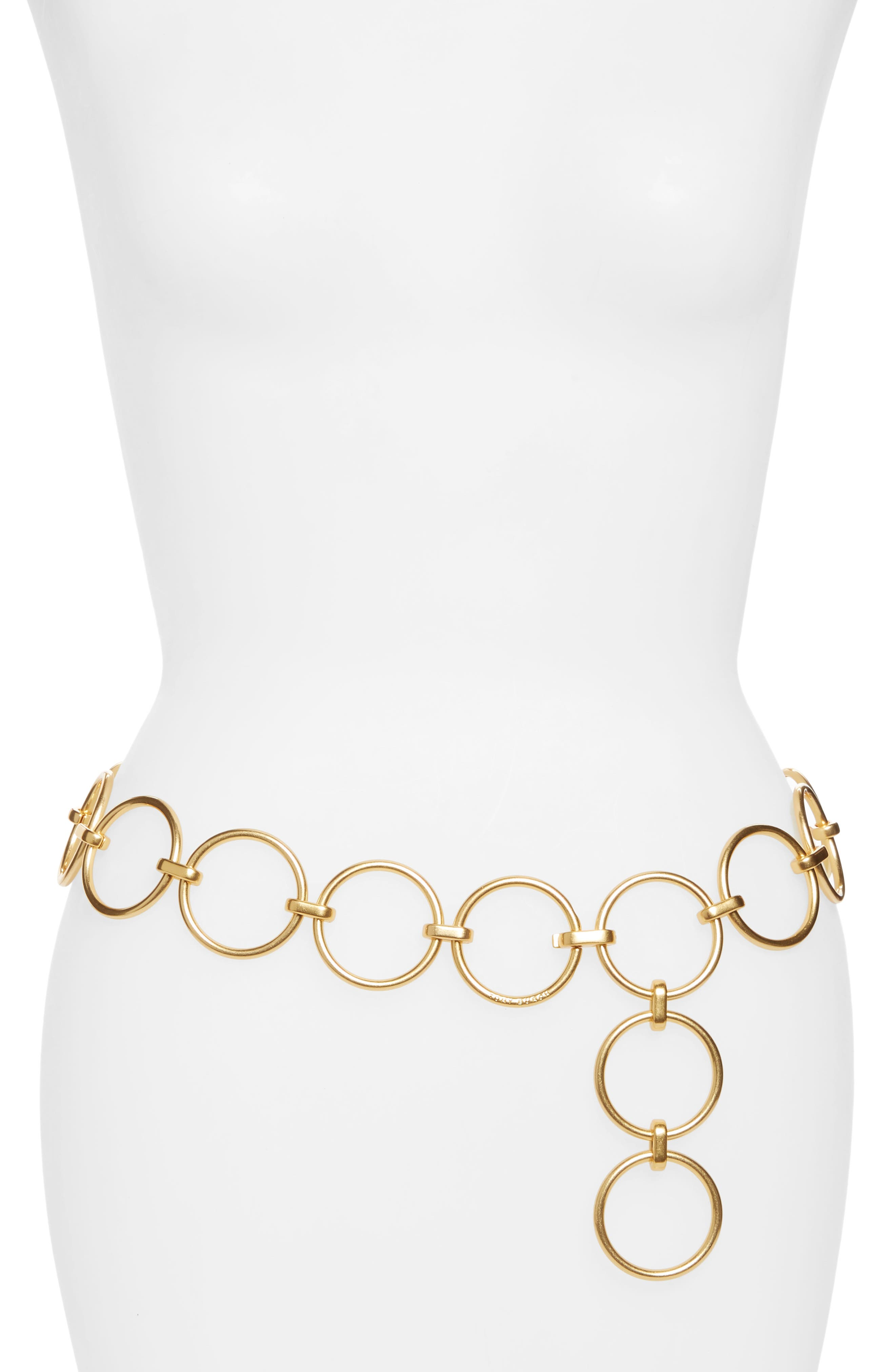Tory Burch Chain Link Belt, Size One Size - Gold