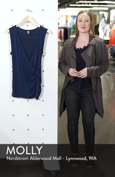 Side Knot Ruched Tank Top, sales video thumbnail