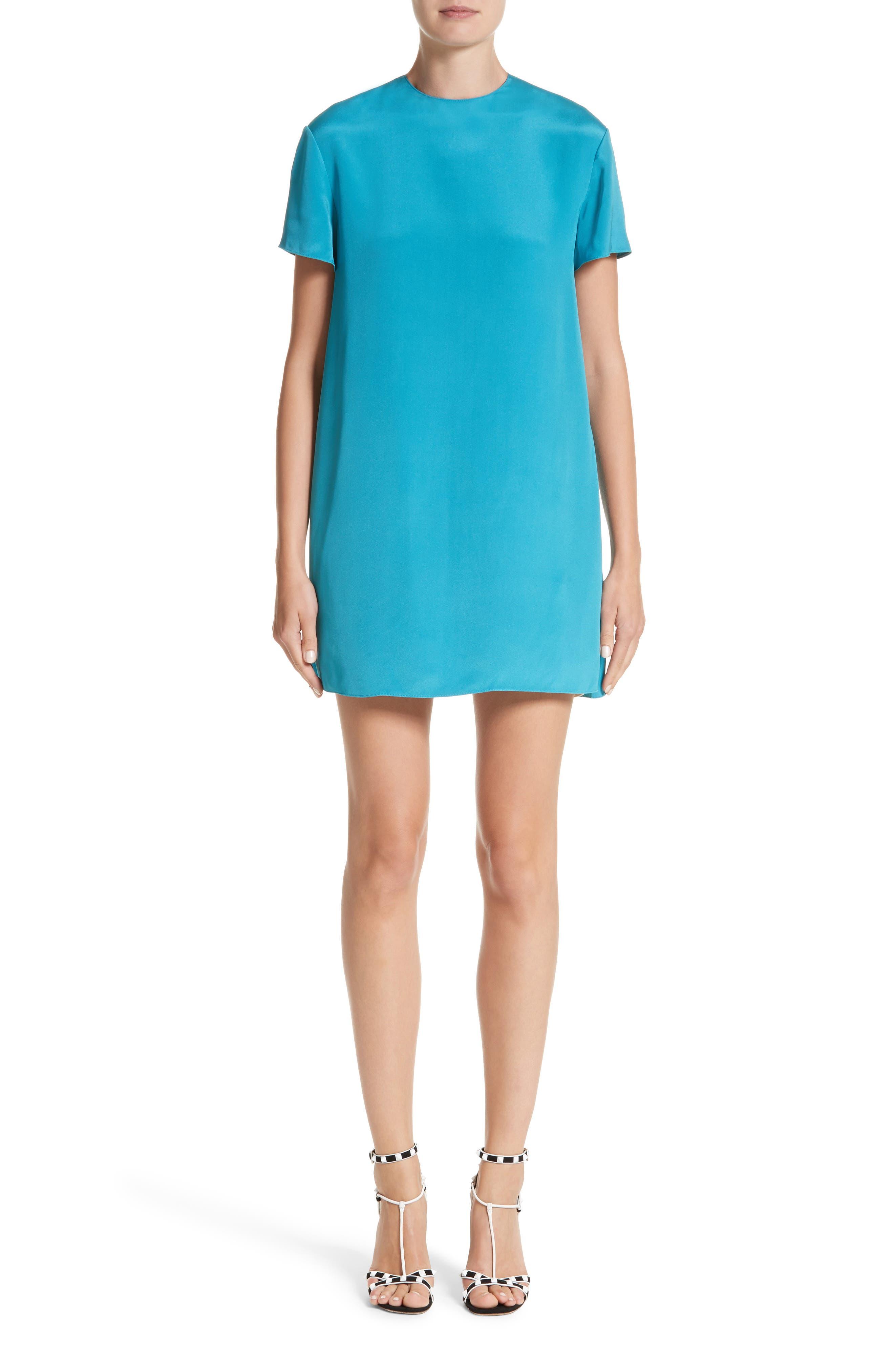 Silk Shift Dress,                             Alternate thumbnail 5, color,                             930