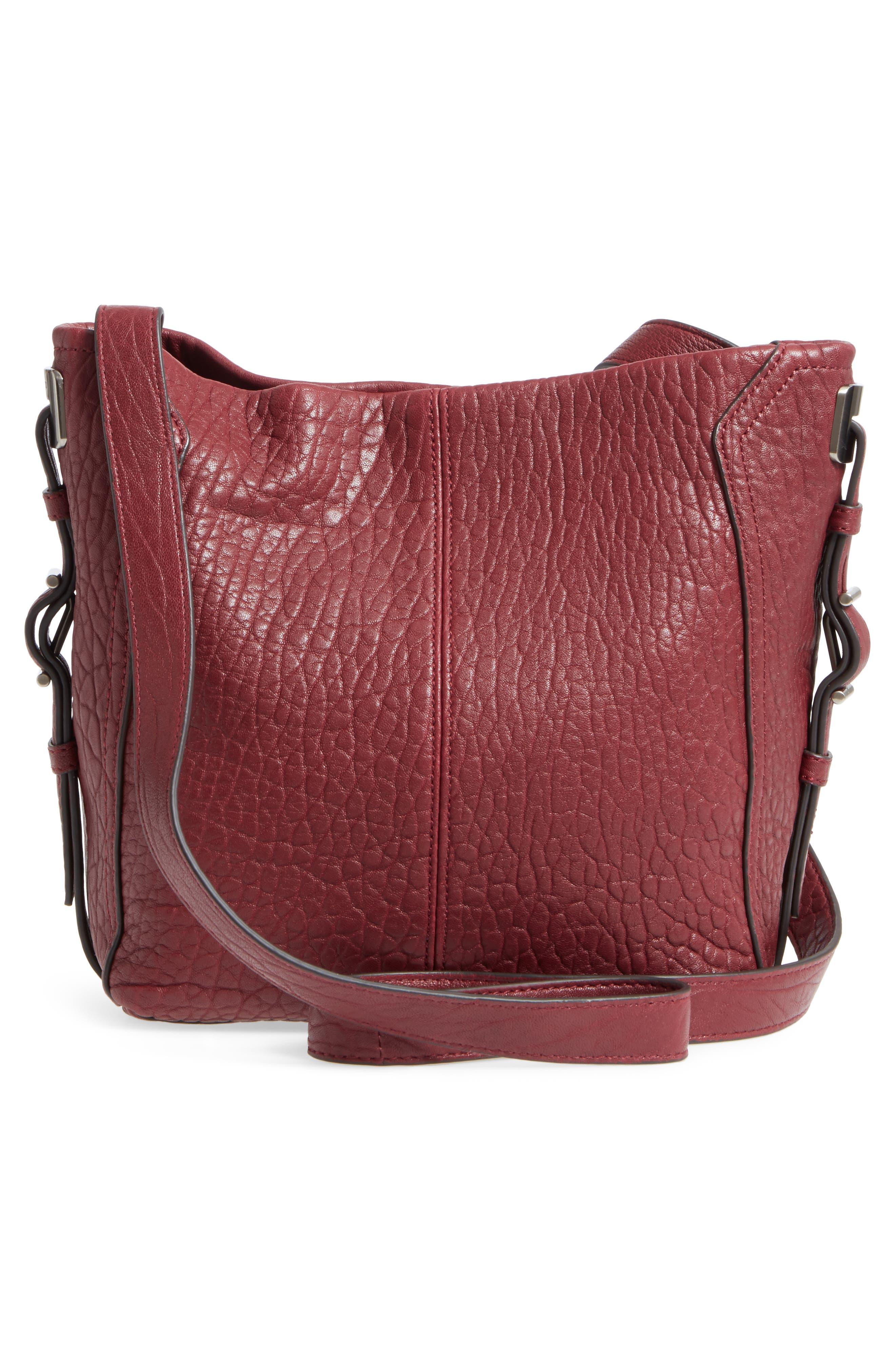Fava Leather Bucket Bag,                             Alternate thumbnail 9, color,